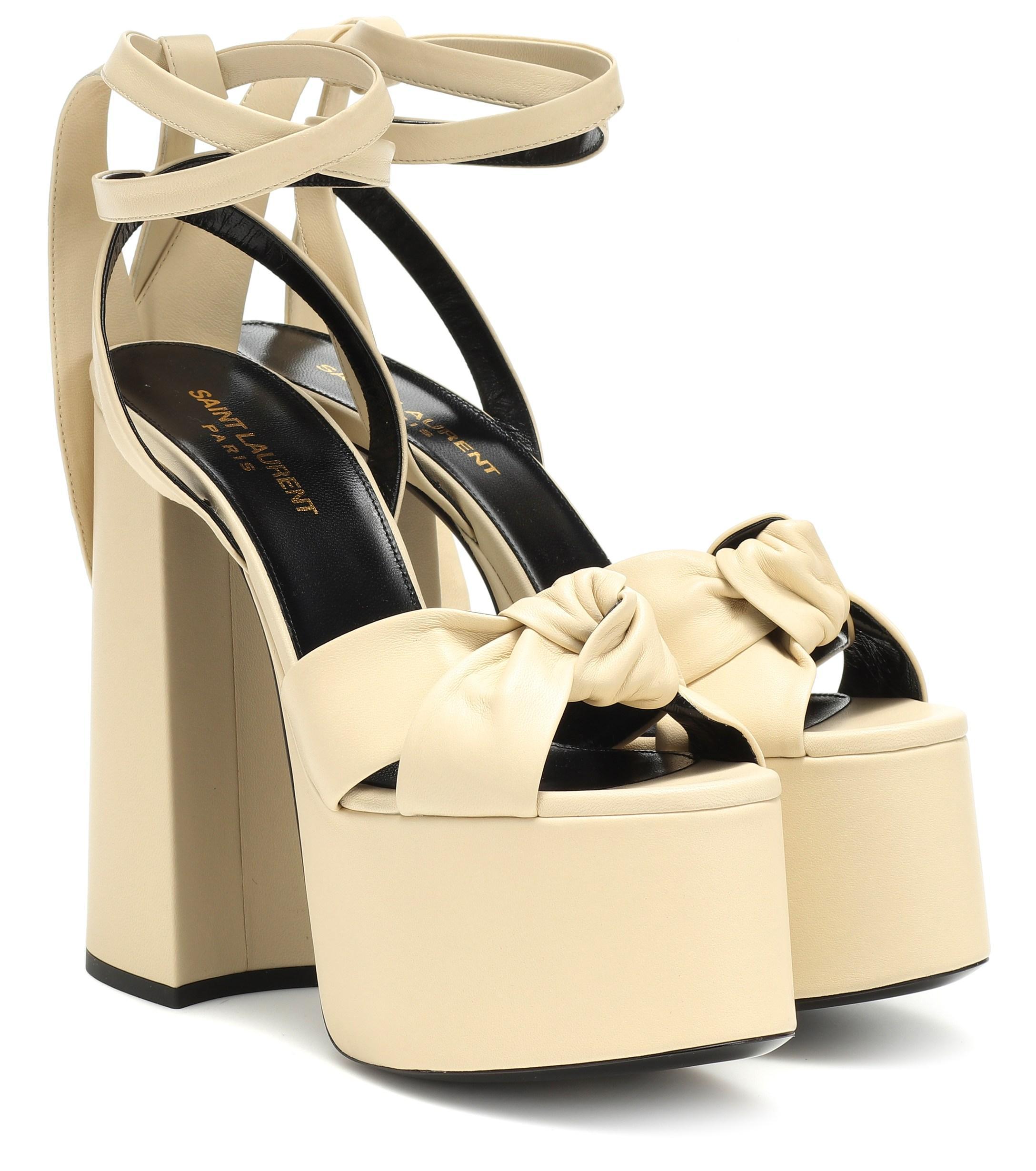 d00d21e9f13 Saint Laurent. Women's Paige 145 Plateau Leather Sandals