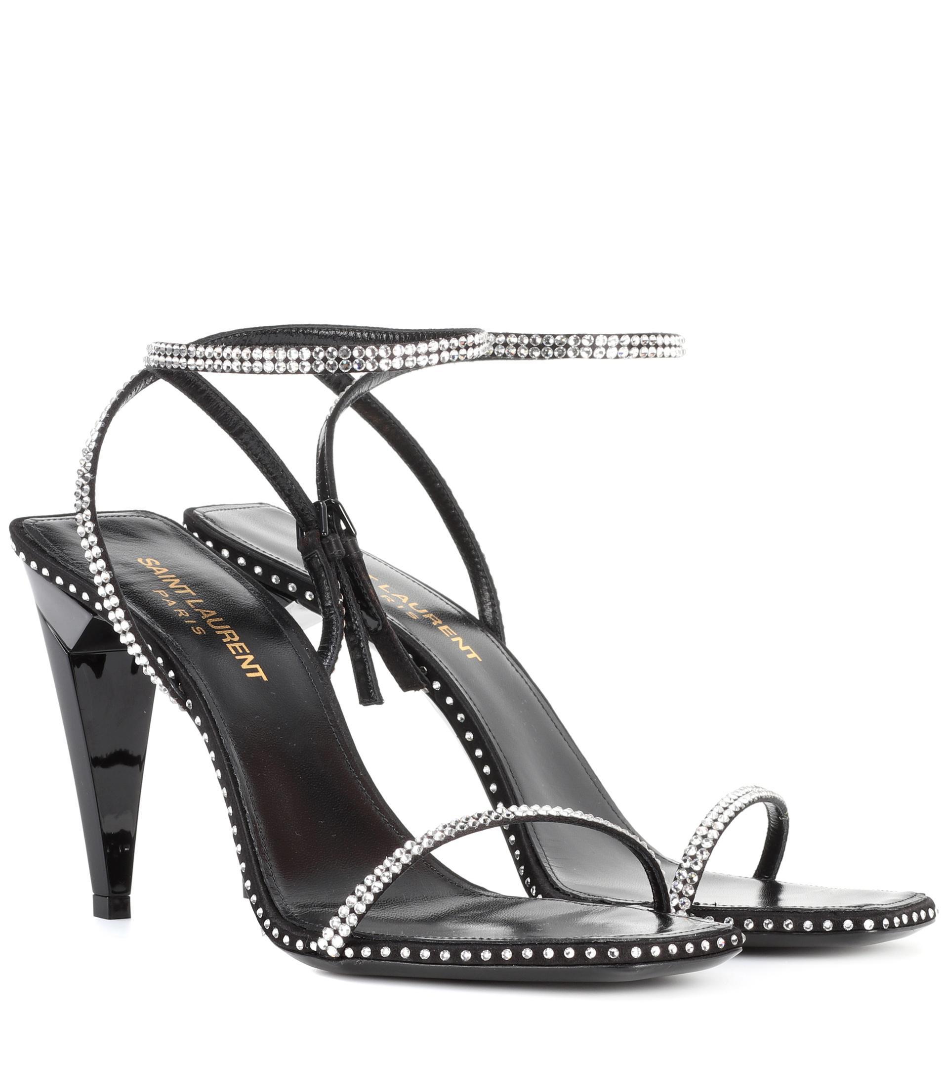 Freja crystal-embellished sandals Saint Laurent Enjoy Cheap Online 1EW96YHj