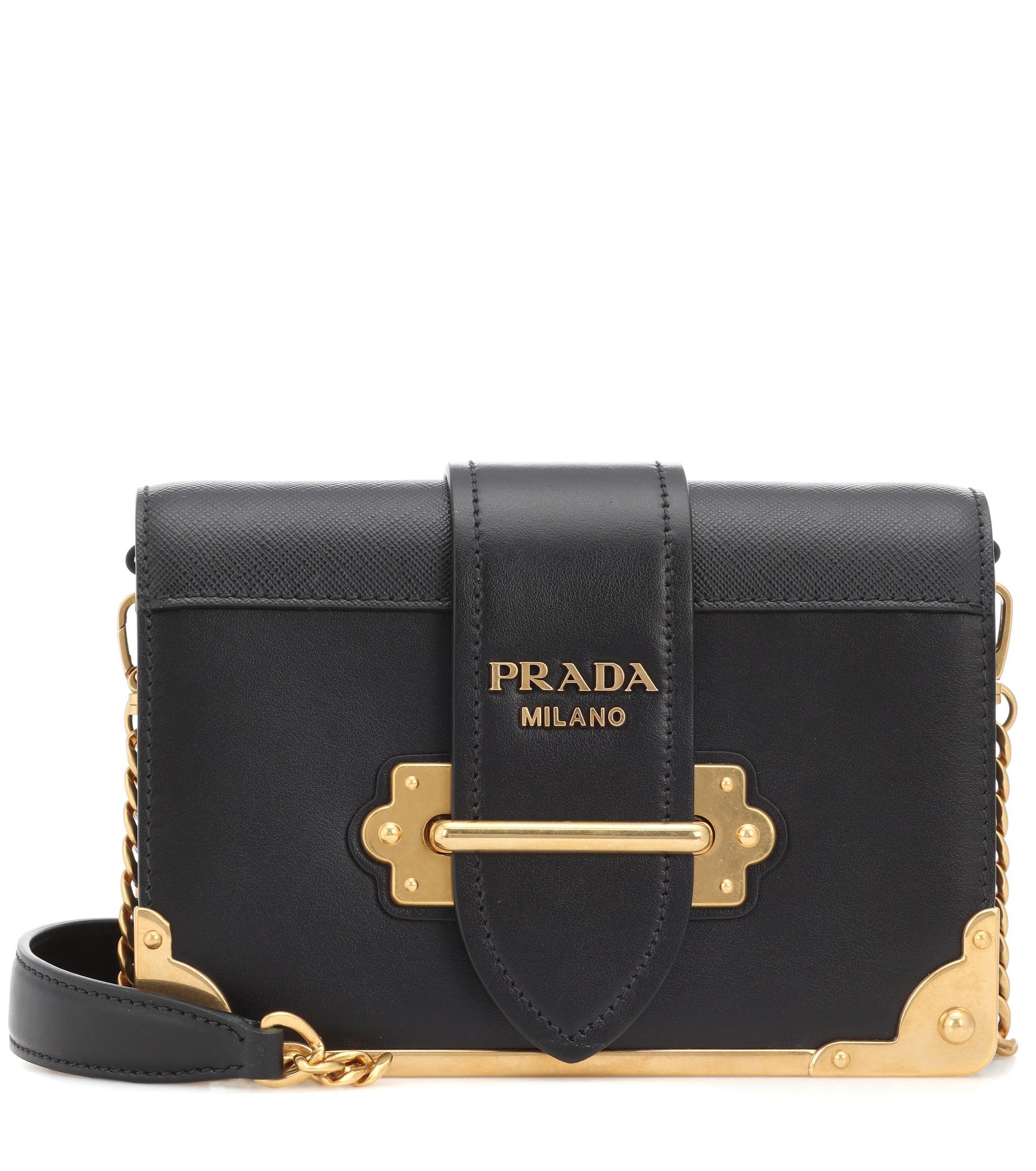 fc24687b056d Prada - Multicolor Cahier Leather Shoulder Bag - Lyst. View fullscreen