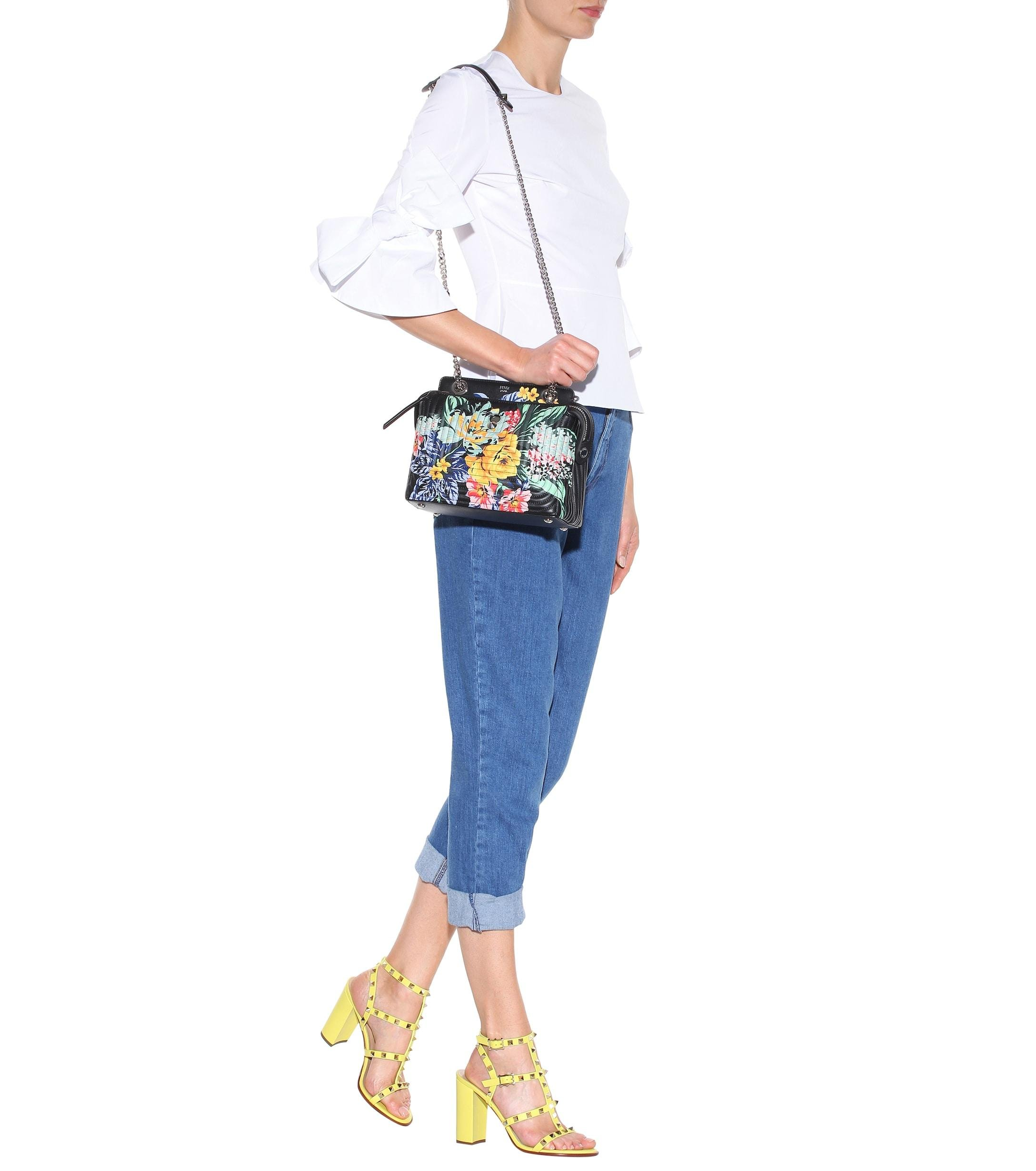 3d7aee658330 Fendi - Multicolor Dotcom Click Printed Leather Shoulder Bag - Lyst. View  fullscreen