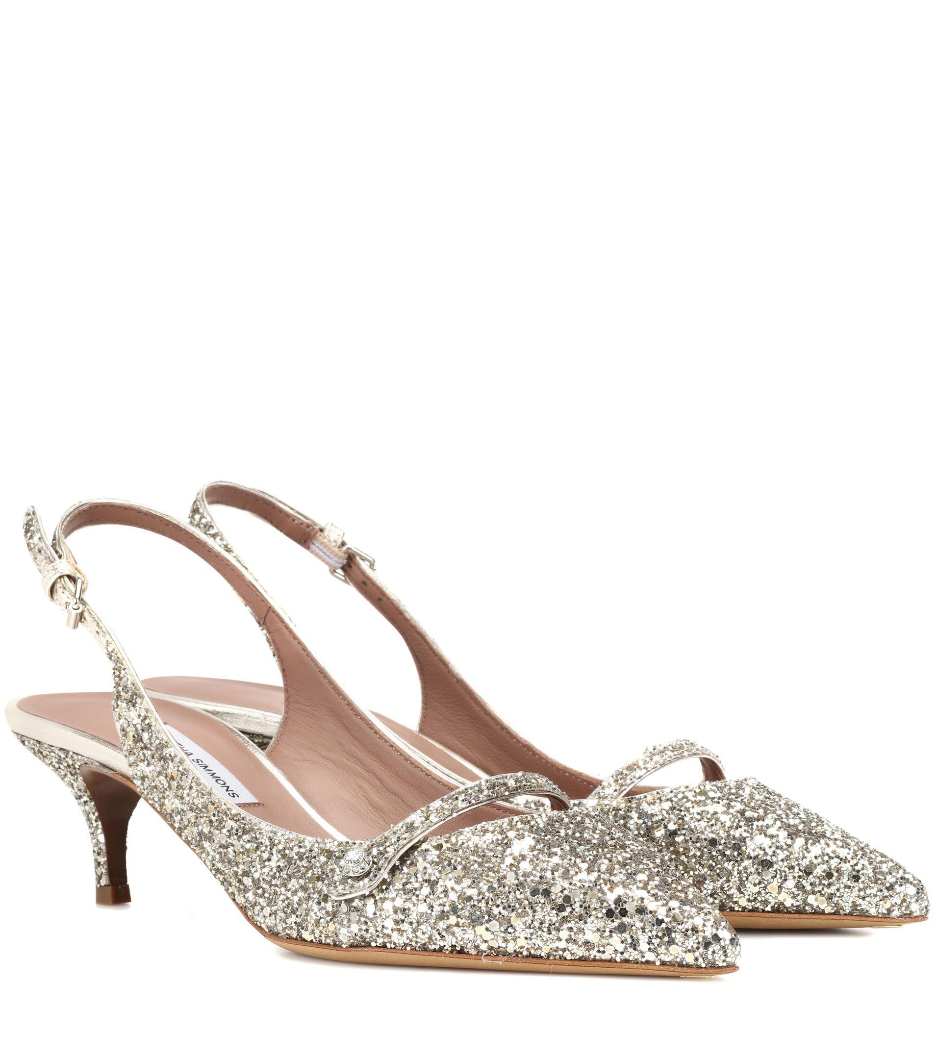 Exclusive to mytheresa.com - Layton glitter slingback pumps Tabitha Simmons CZ8lT7
