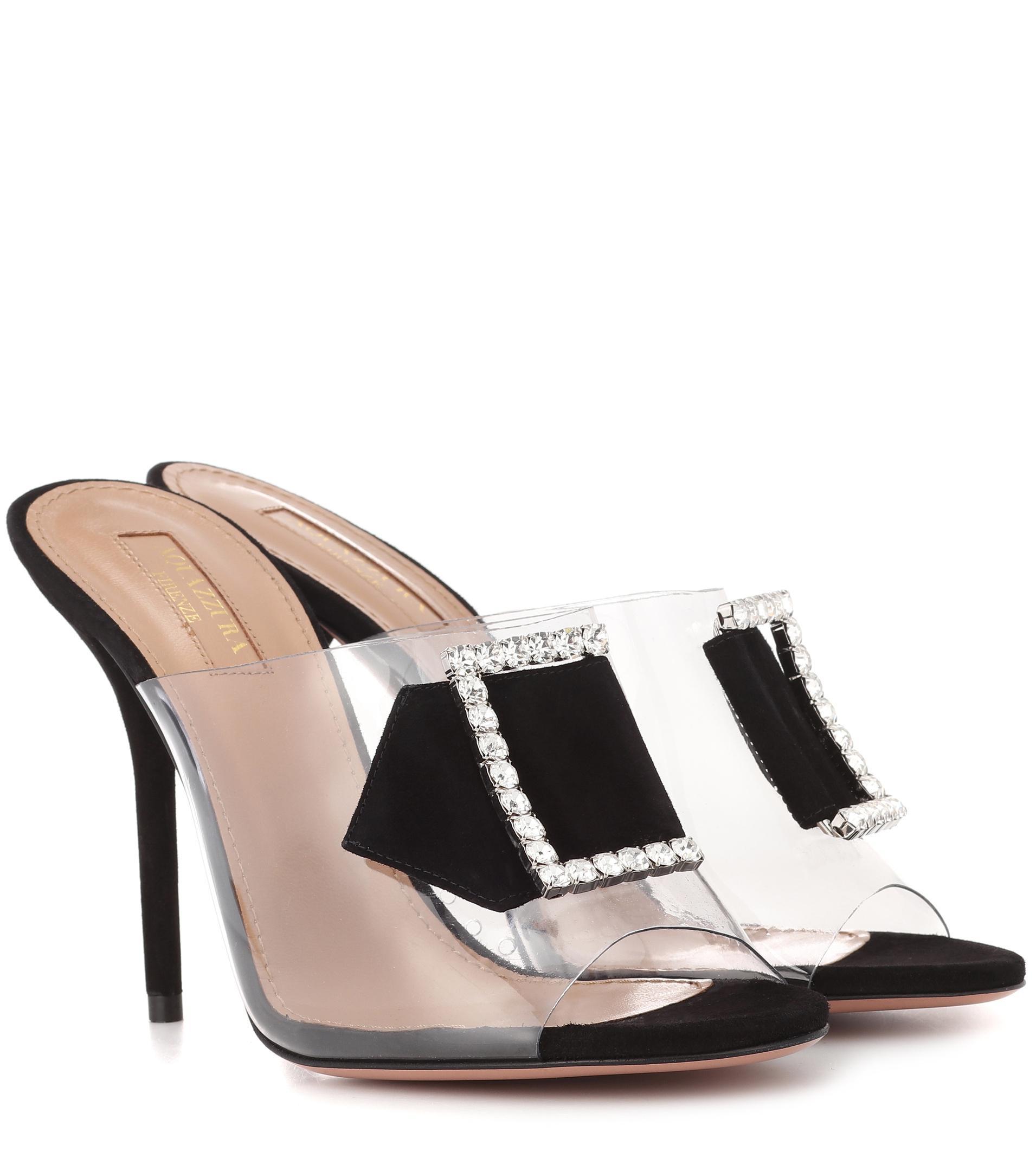 1bbbd44e01dc Lyst - Aquazzura Sparkles 105 Embellished Sandals in Black
