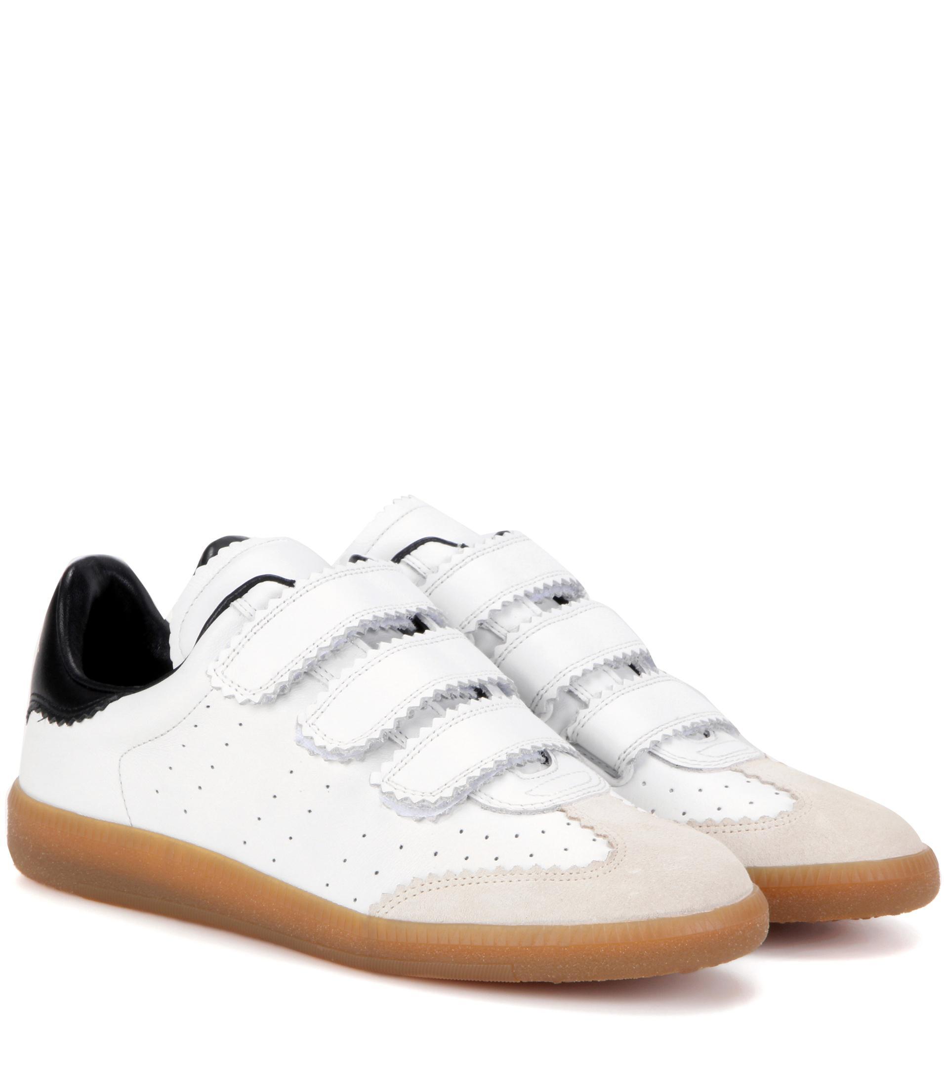 Jeu Des Achats En Ligne Vente 2018 Plus Récent Isabel Marant White beth leather sneakers Vente De Haute Qualité Meilleur Prix De Liquidation W0j6YM8fZm