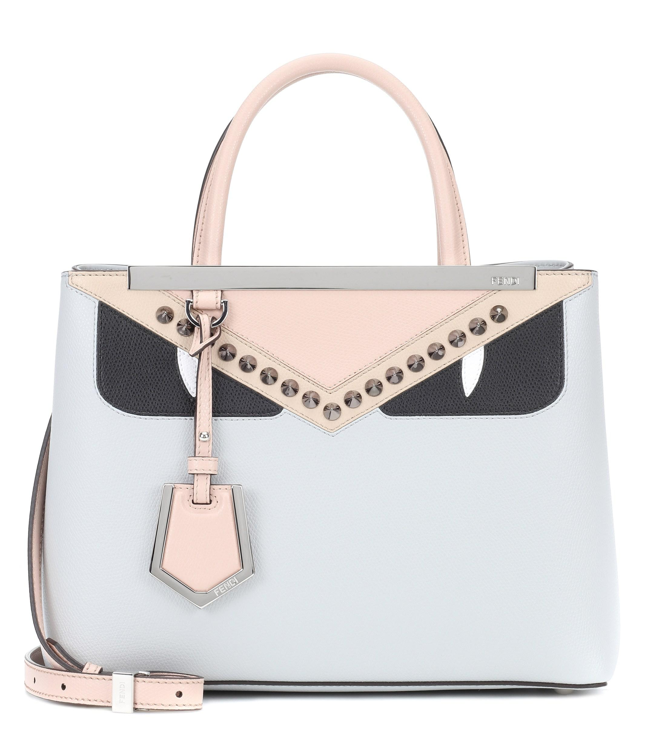 a0a40a5476d0 Lyst - Fendi 2jours Petite Leather Tote