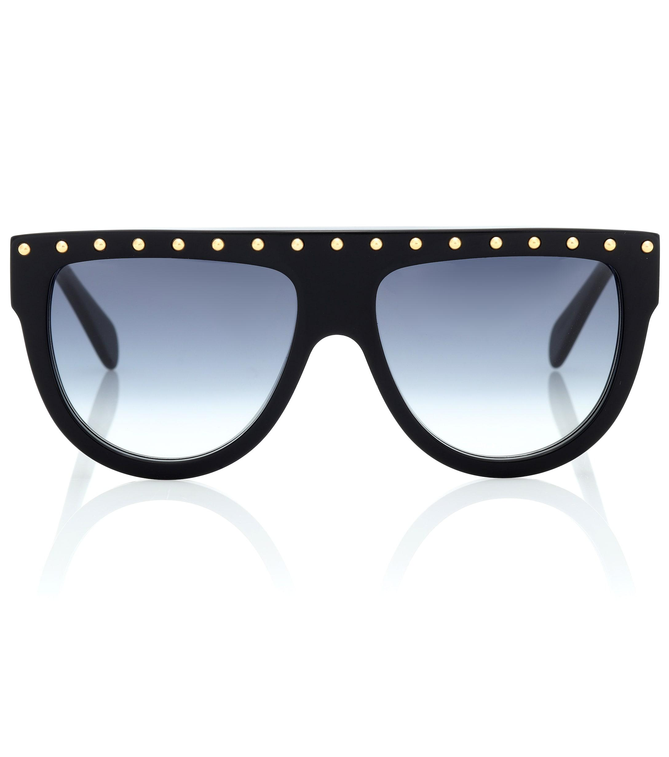 5b770c99e659 Céline Embellished Sunglasses in Black - Lyst