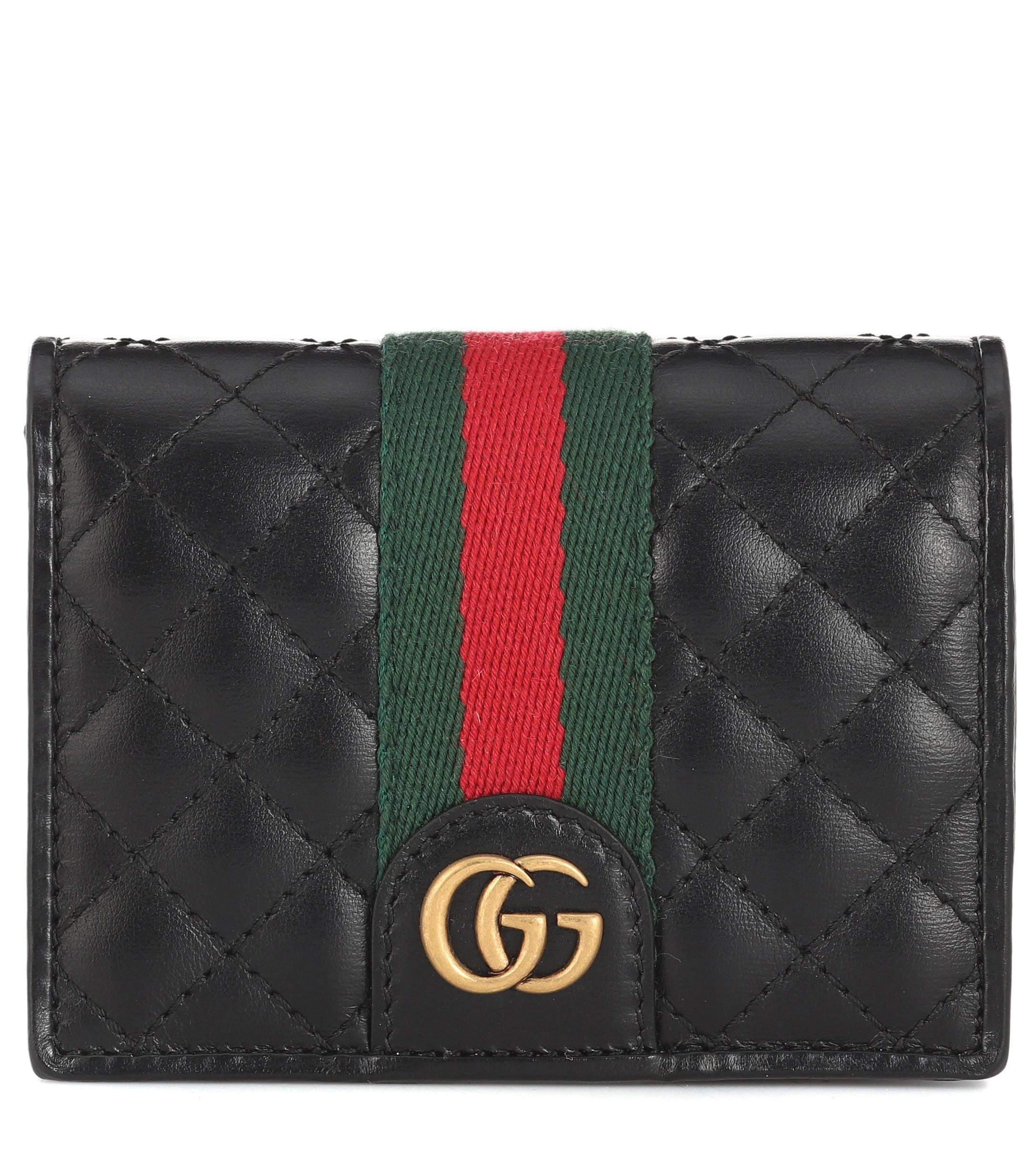 8a7defb1547 Lyst - Gucci Double G Leather Wallet in Black