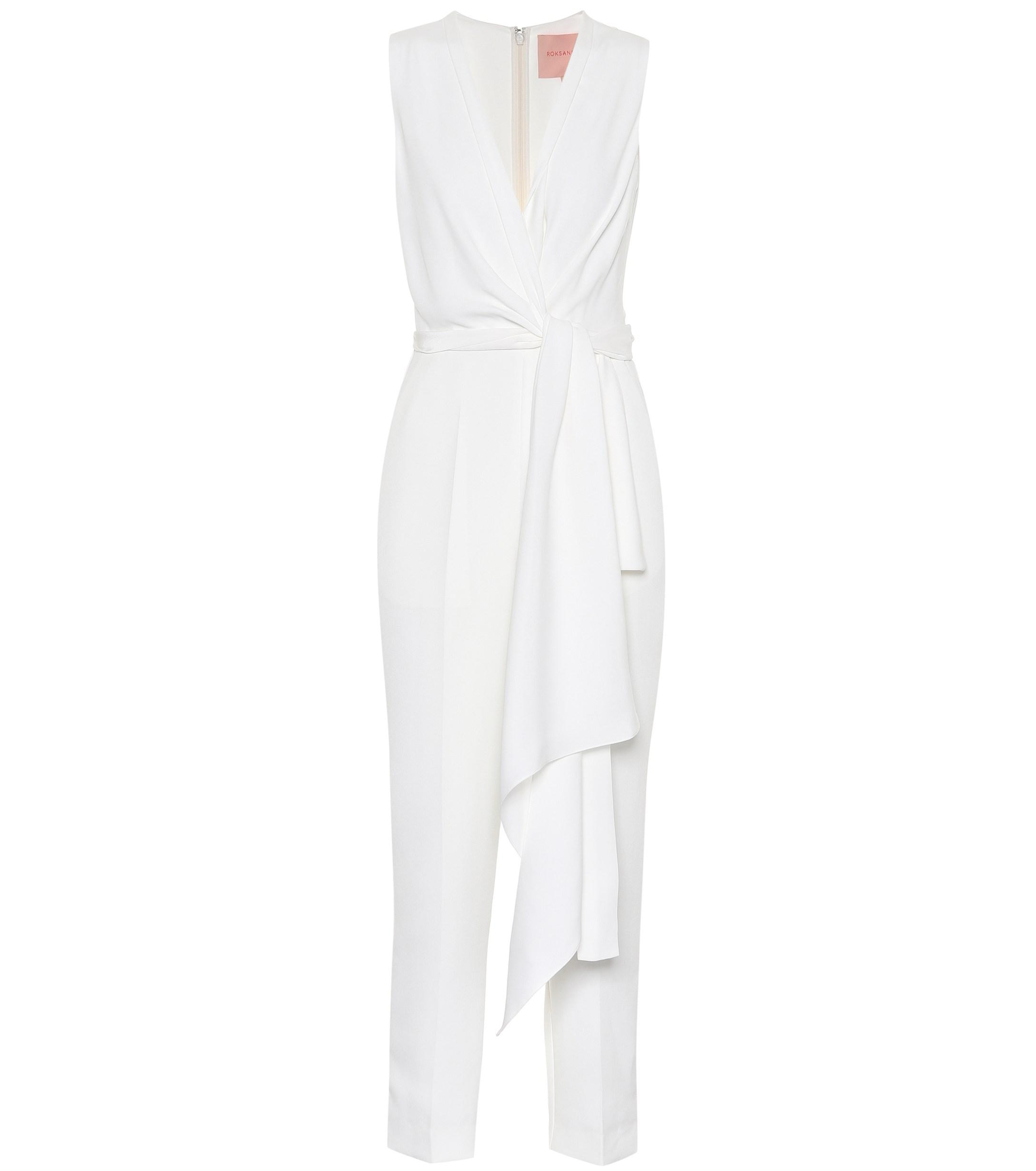 2688318ca53 Lyst - ROKSANDA Rokuro Bridal Silk-blend Jumpsuit in White