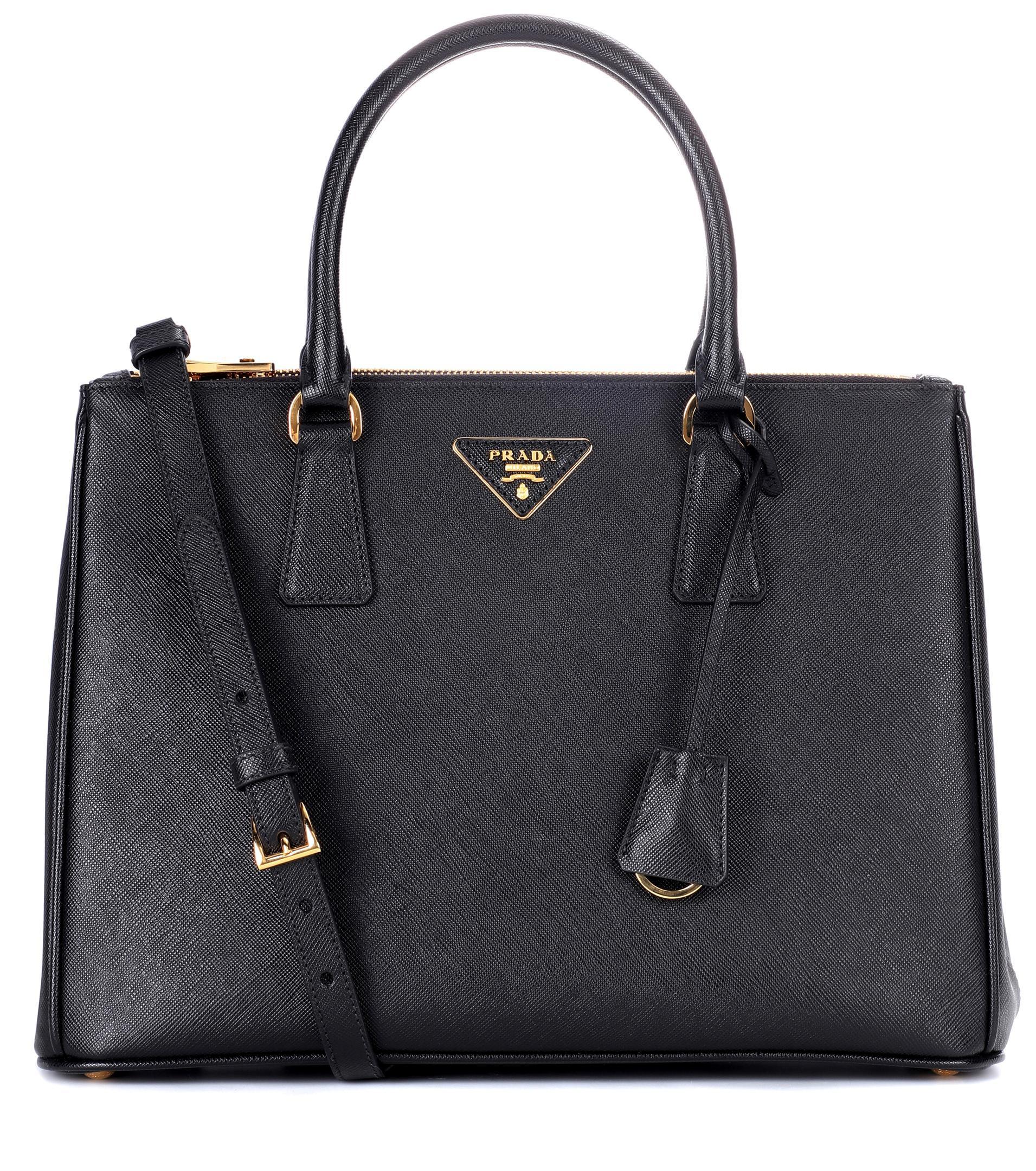 12e7110626d6 cheapest prada galleria saffiano leather tote bluette 81146 08725  denmark  prada black galleria saffiano leather tote lyst. view fullscreen 612d0 b54b4
