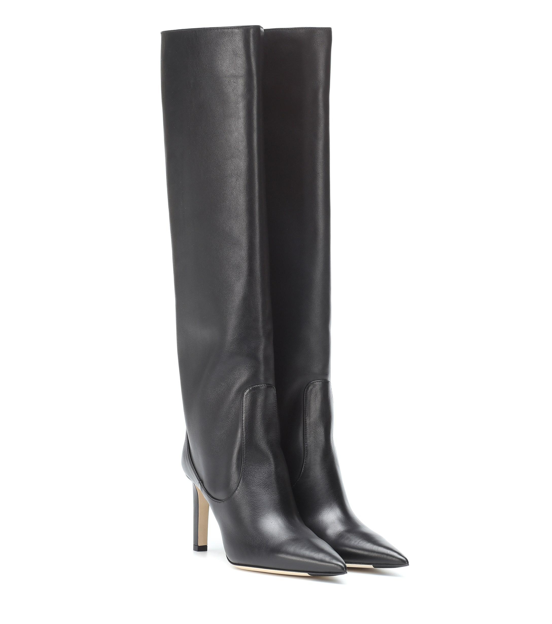 eb11b1c16bc Lyst - Jimmy Choo Mavis 85 Leather Boots in Black