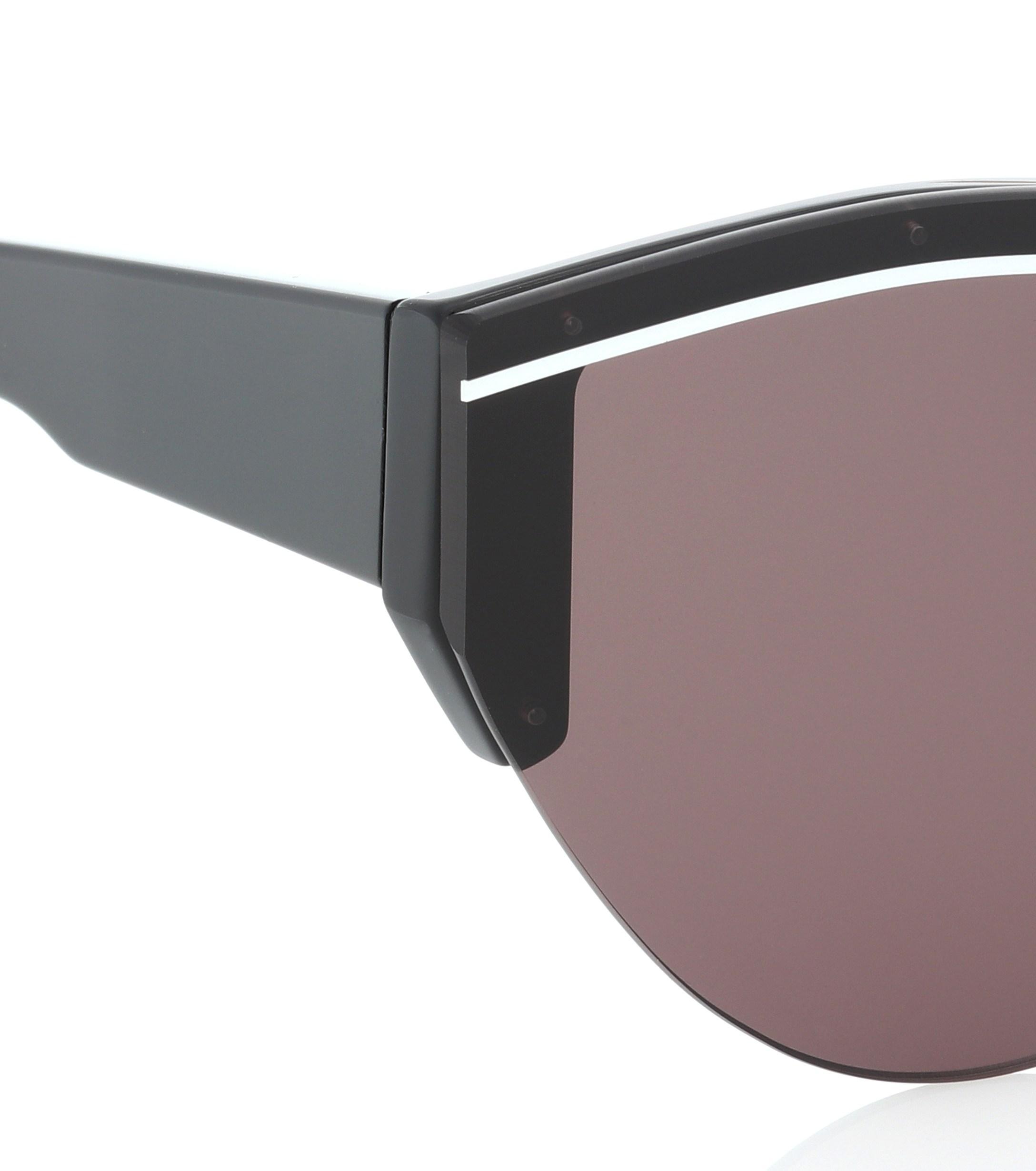 344e75186b8 Balenciaga - Black Ski Cat Sunglasses - Lyst. View fullscreen