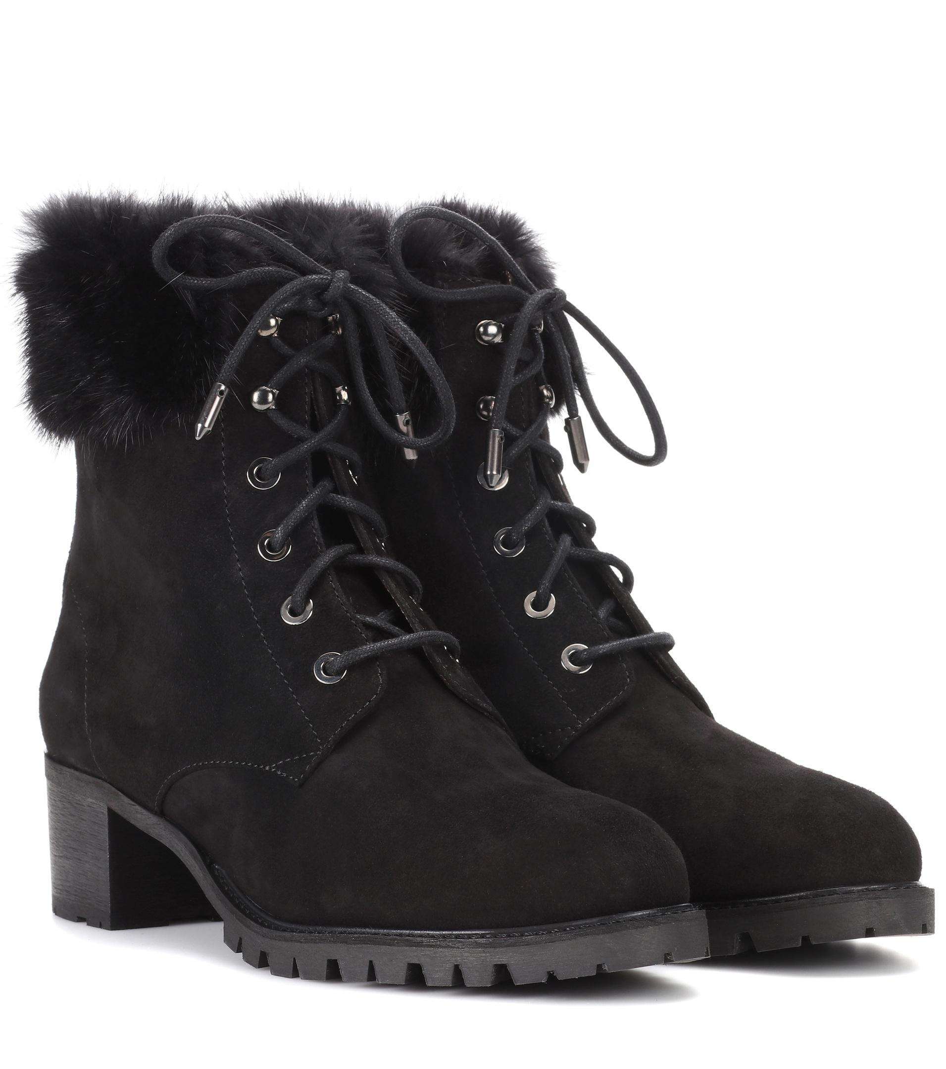 Aquazzura. Women's Black Mont Blanc 40 Suede Ankle Boots