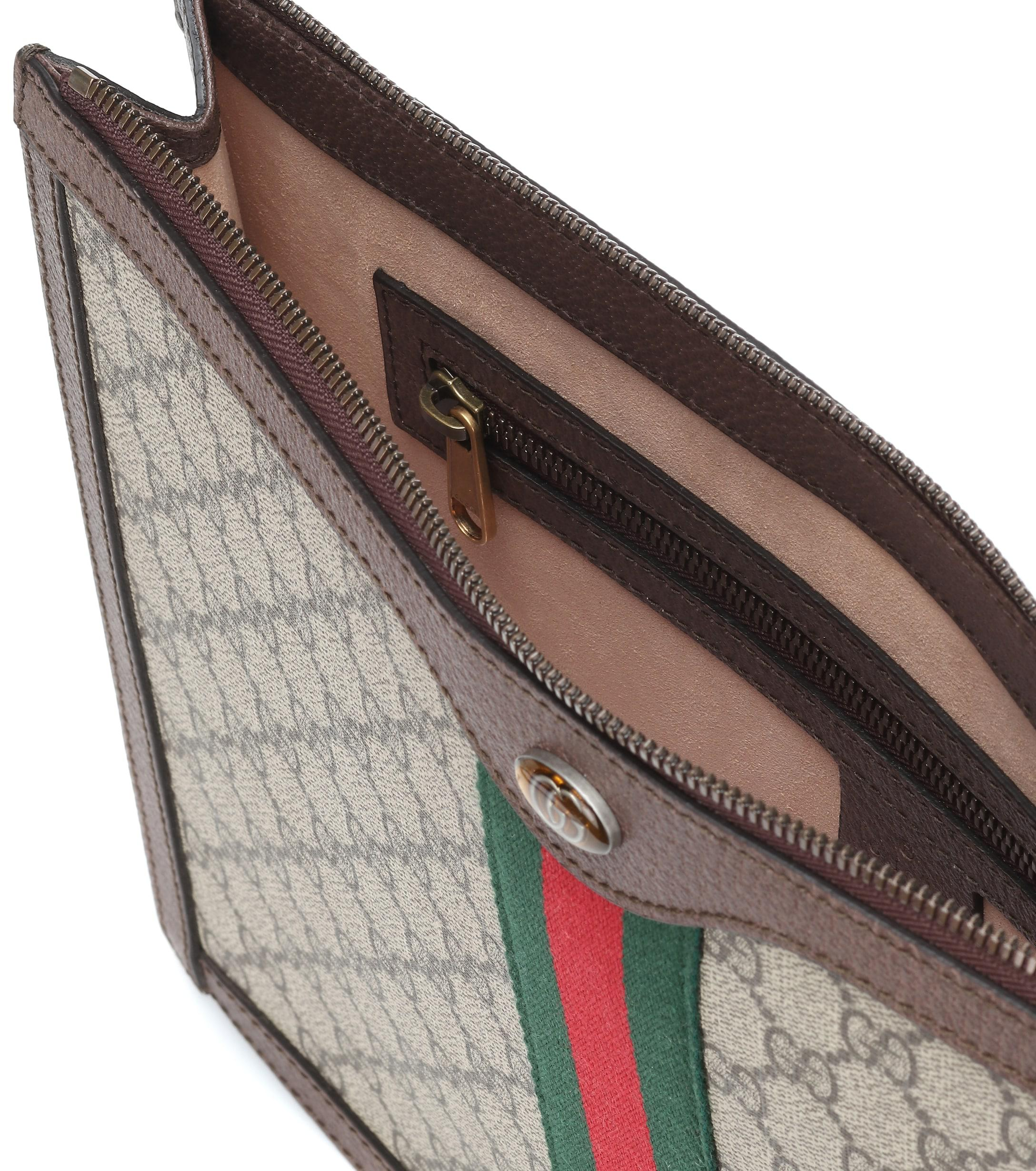 Gucci - Multicolor Pochette en cuir imprimé GG Supreme Portfolio - Lyst.  Afficher en plein écran 463beb819383