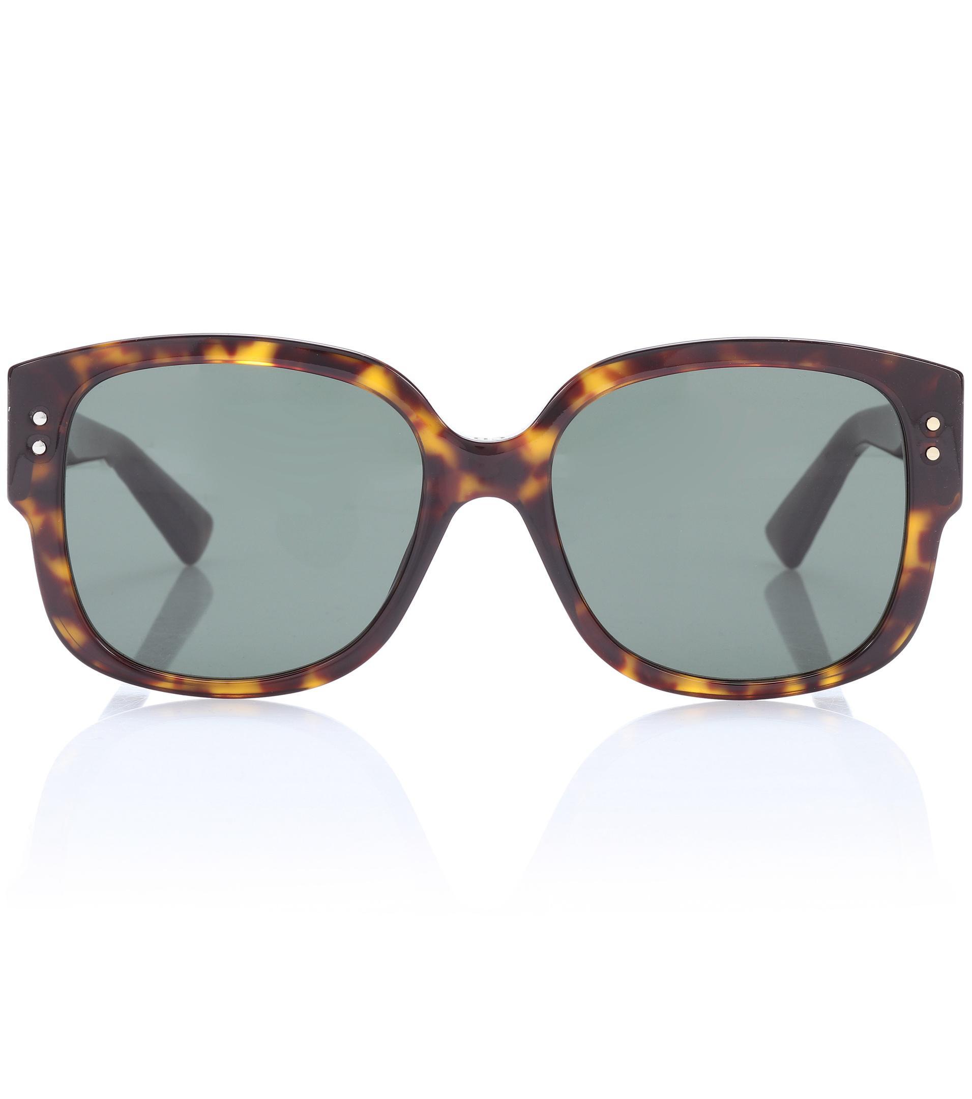 85b8a1fc07 Lyst - Dior Diorladystuds Square Sunglasses in Brown