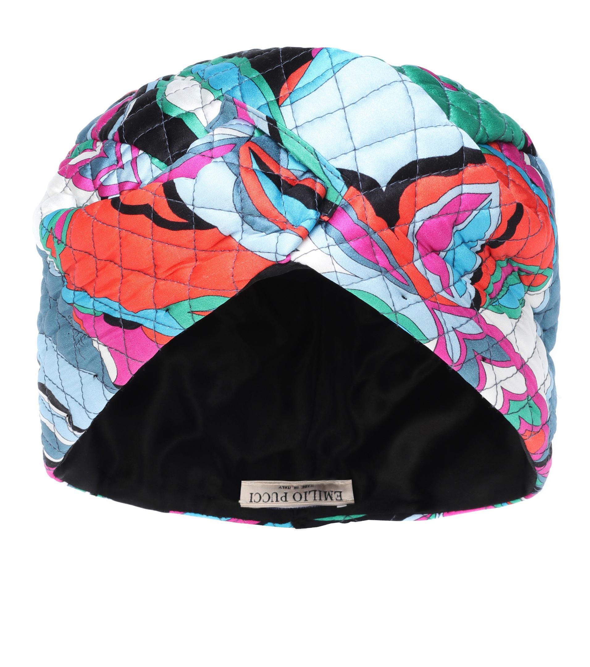 Emilio Pucci - Multicolor Quilted Stretch Silk Turban - Lyst. View  fullscreen 6c1b7ce7cfba