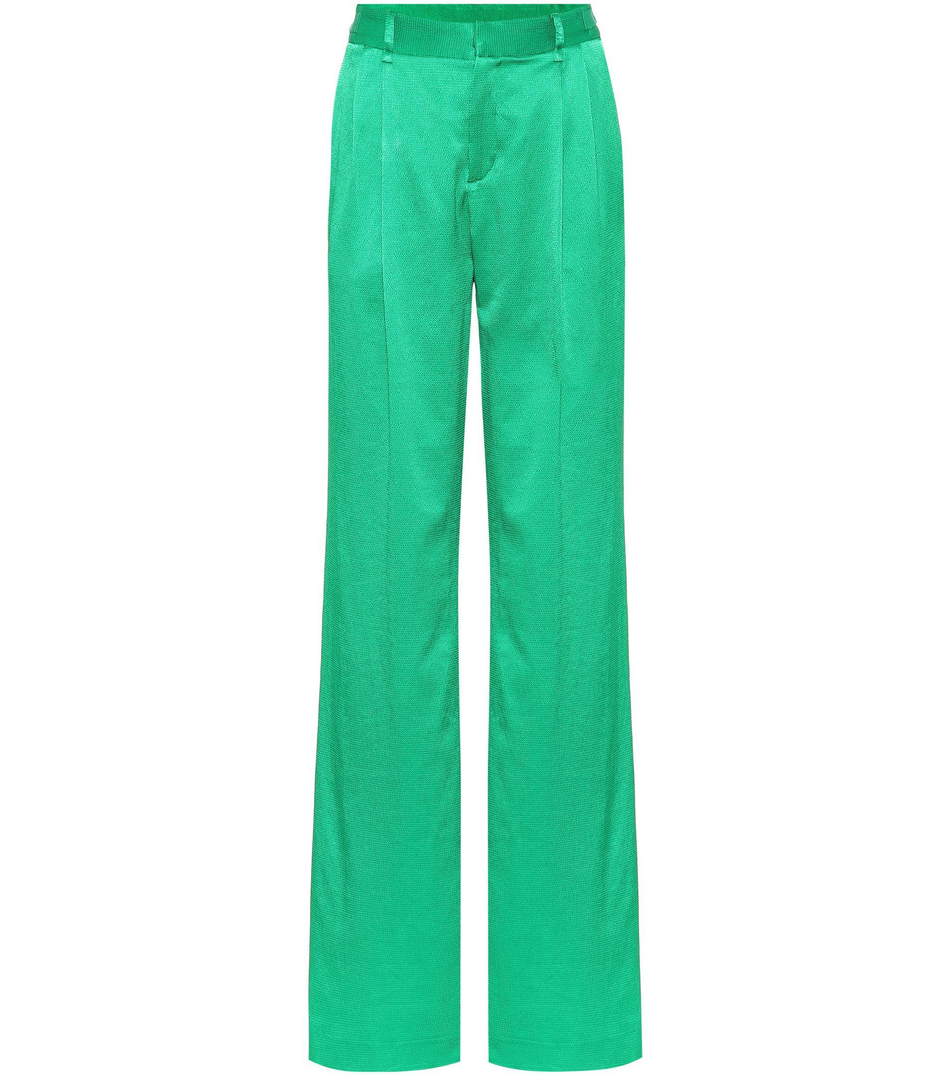 satin palazzo pants - Green Attico BPsHZajlT