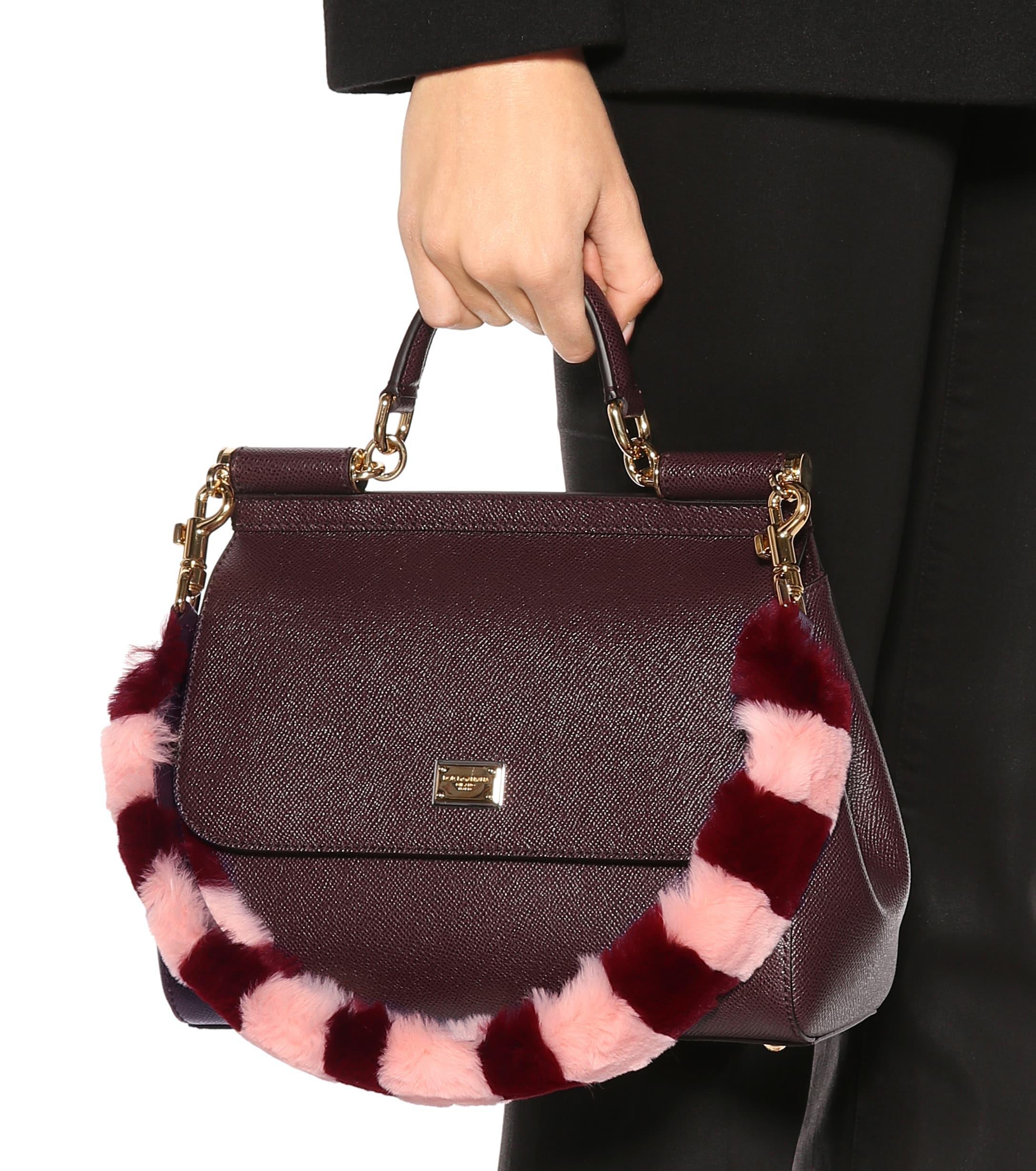 correa Lyst Dolce cuero de Gabbana a y correa rayas piel multicolor 5PvPFnq