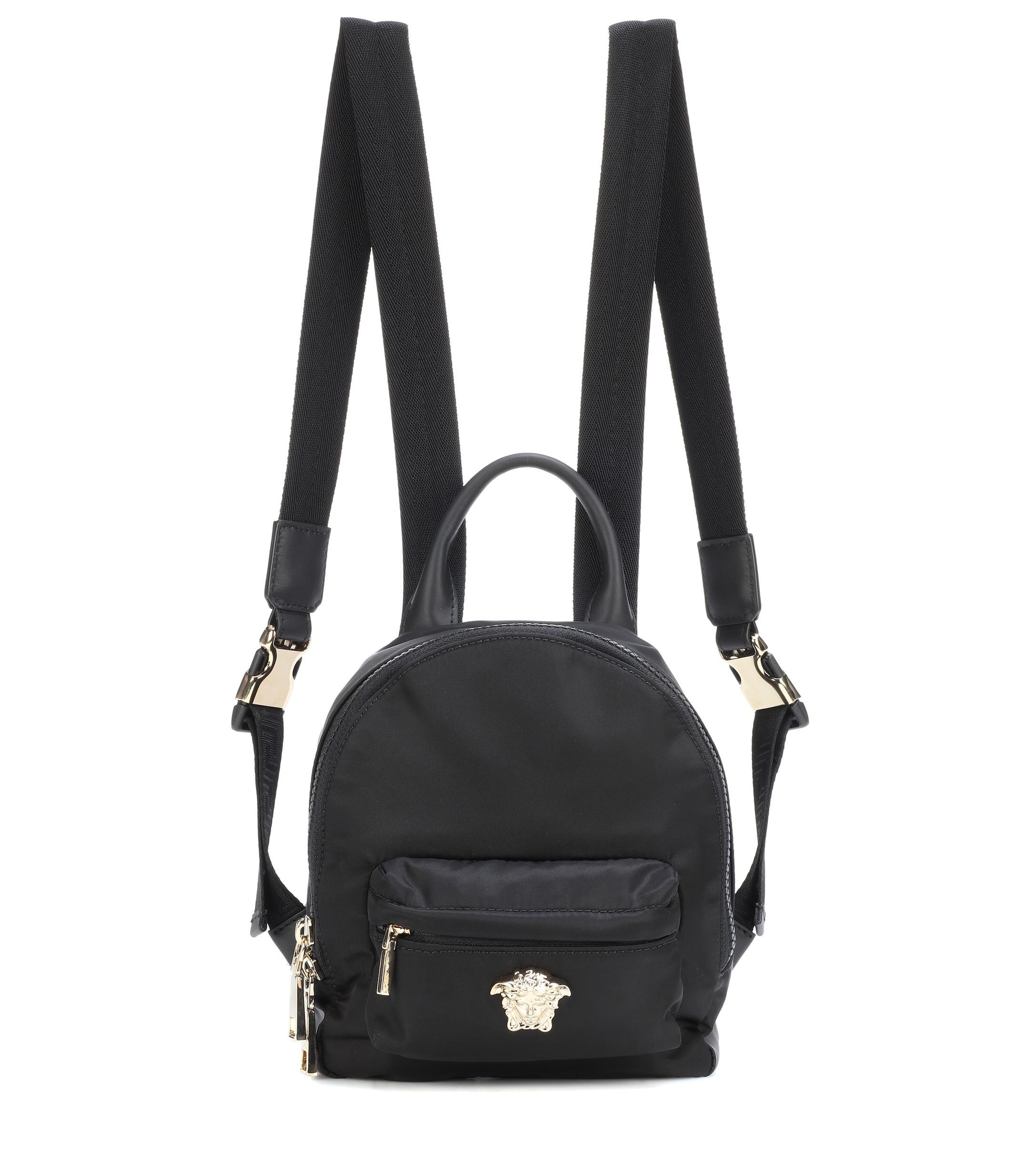 Versace Palazzo Mini Nylon Backpack in Black - Lyst 01f8c47912