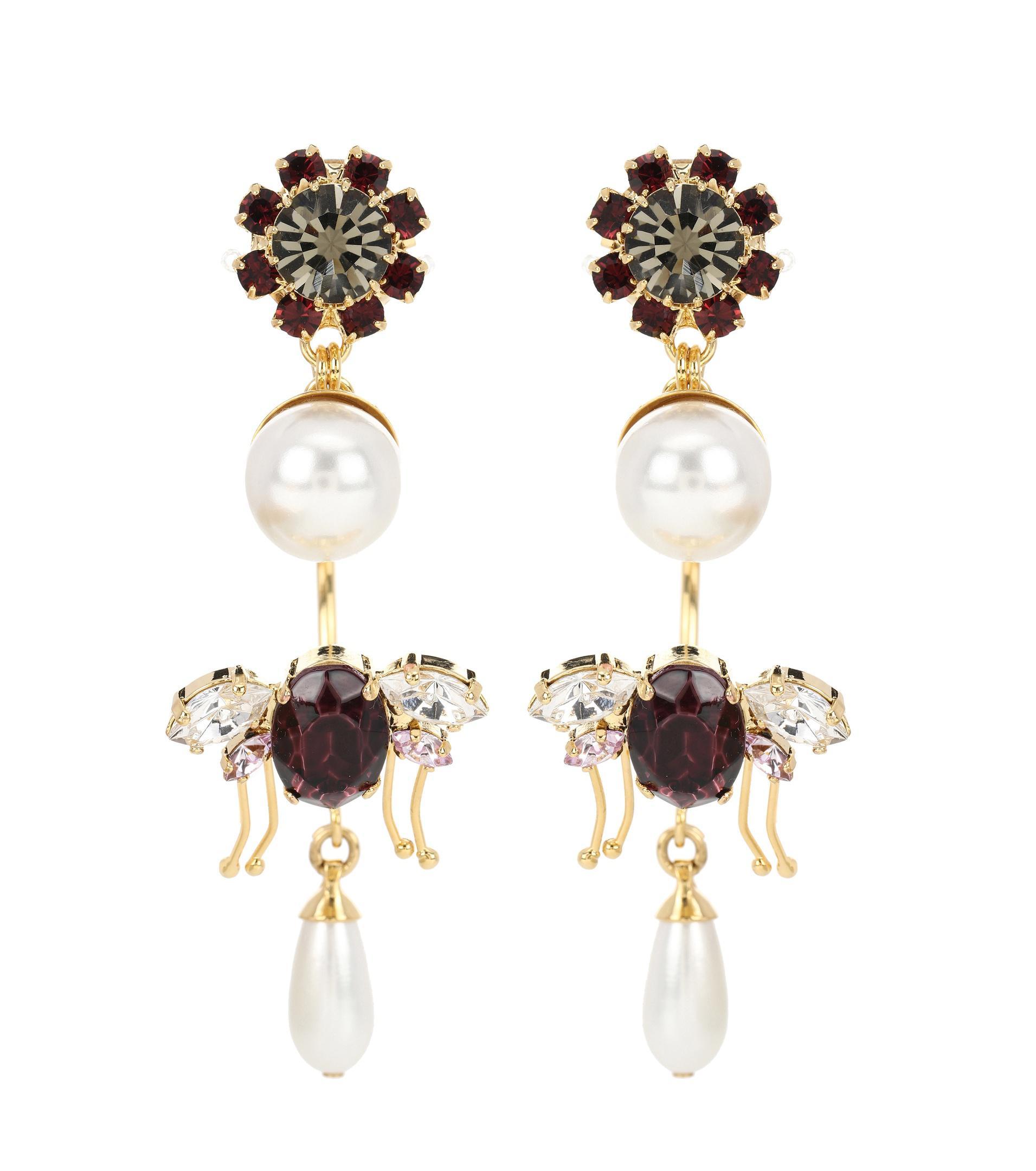 Drop Bee clip-on earrings Erdem pfjGF