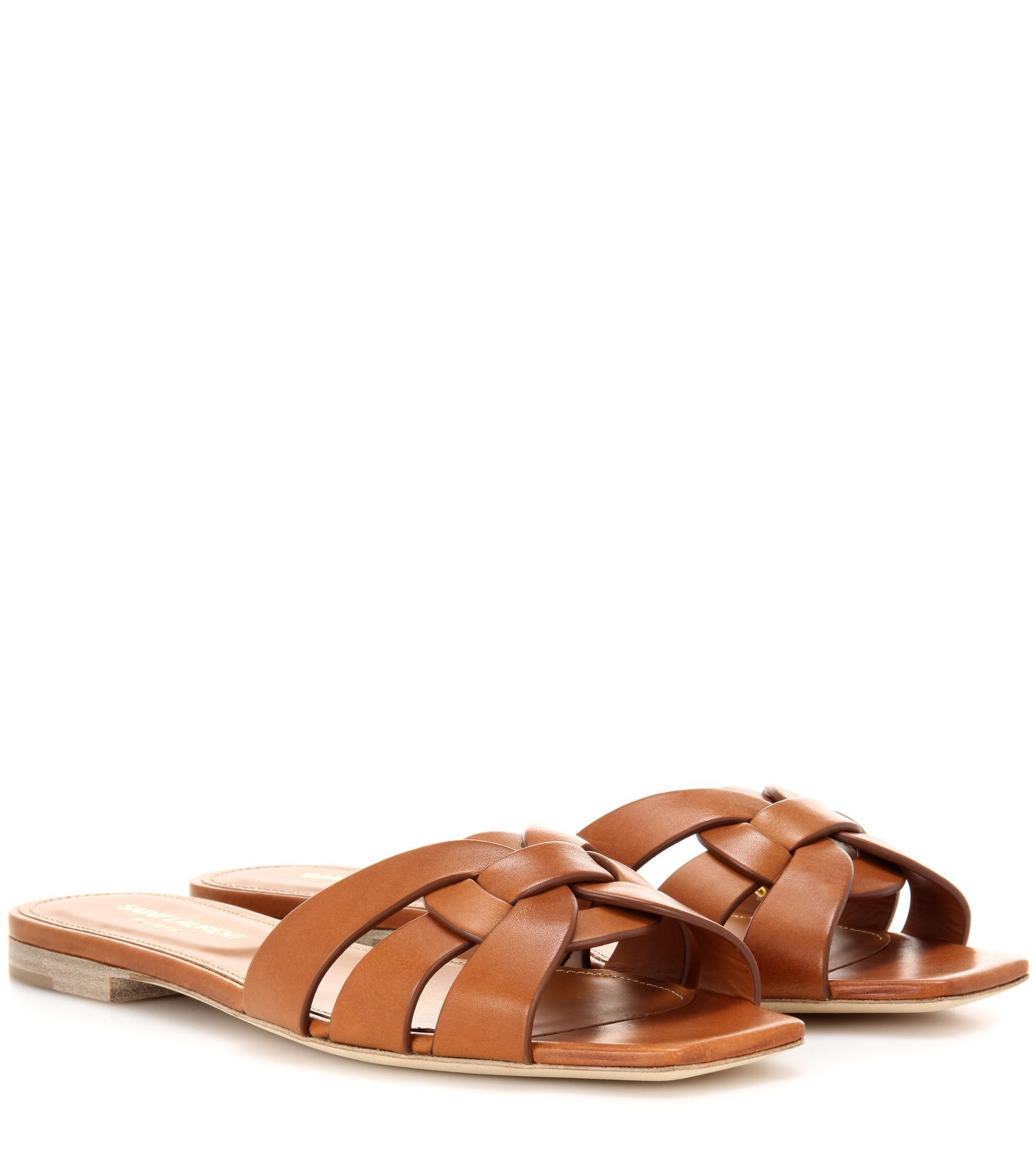 Nu Pieds 05 Leather Sandals Saint Laurent xJNmx