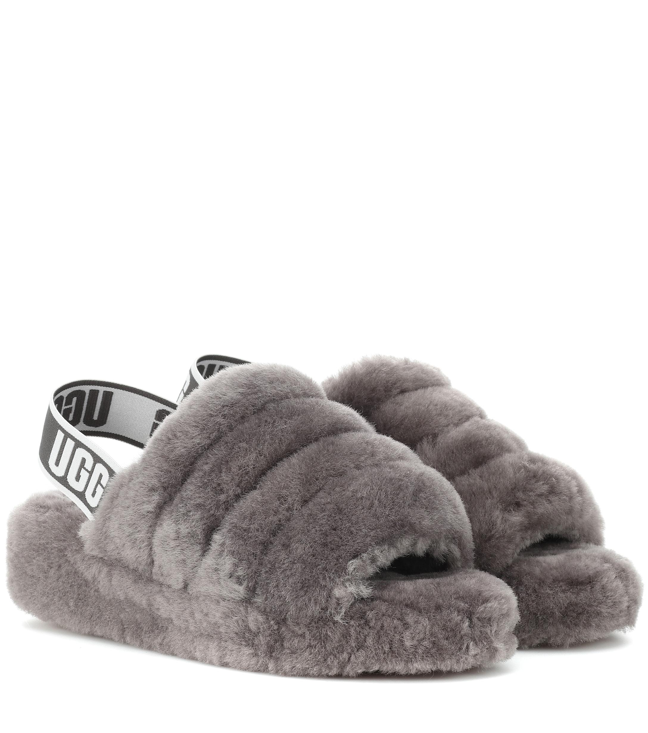 50a91f149c76 Lyst - UGG Fluff Yeah Fur Slides in Gray