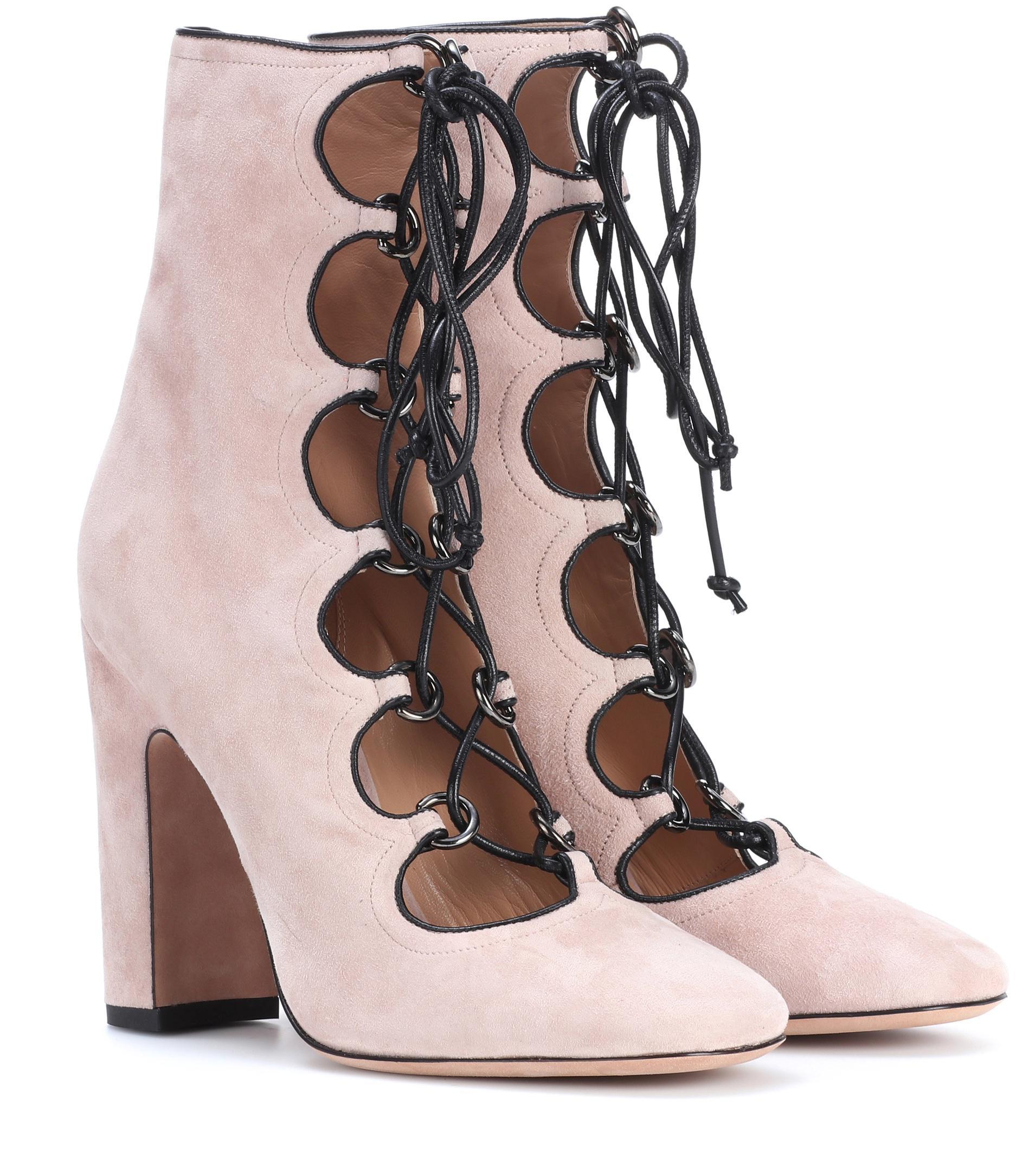 Valentino Brown Suede Kori Boots GIspASFx7