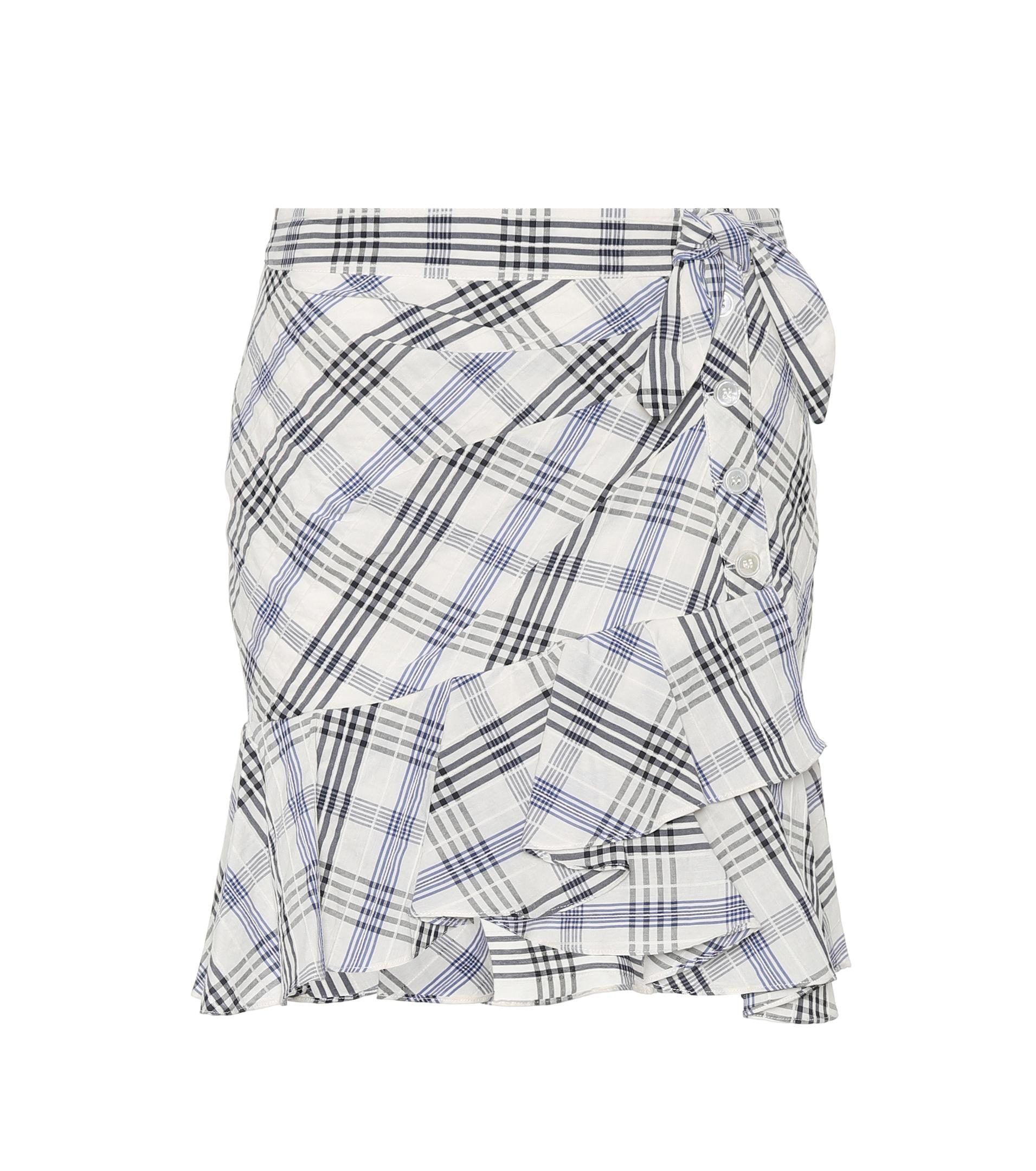 Cheap Prices Kaia Embroidered Checked Cotton-blend Mini Skirt - Blue Veronica Beard Shop For 2018 New Sale Online Recommend 4hJXEbc8A