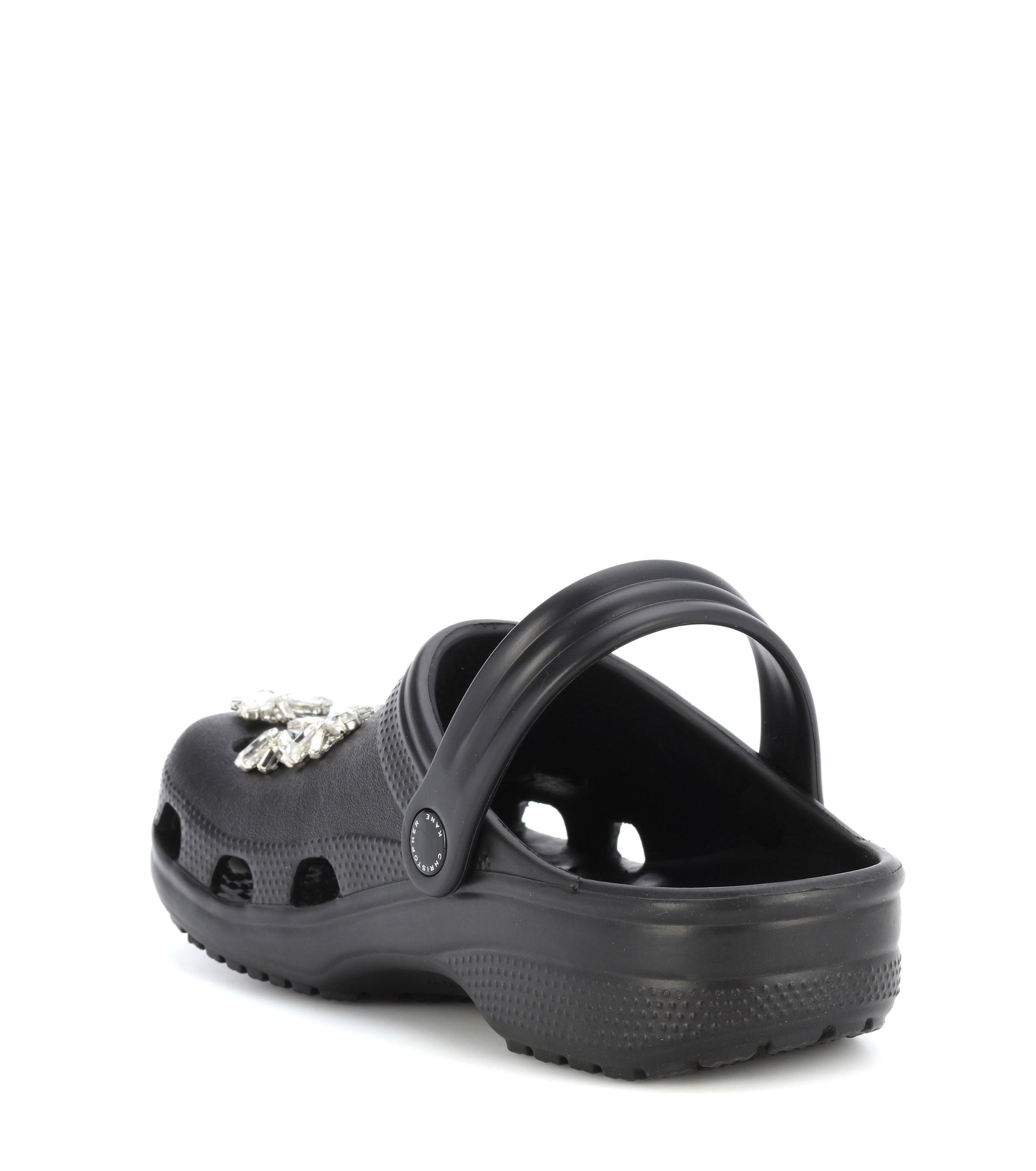 971c951405f6c Christopher Kane - Black Crystal-embellished Crocs - Lyst. View fullscreen