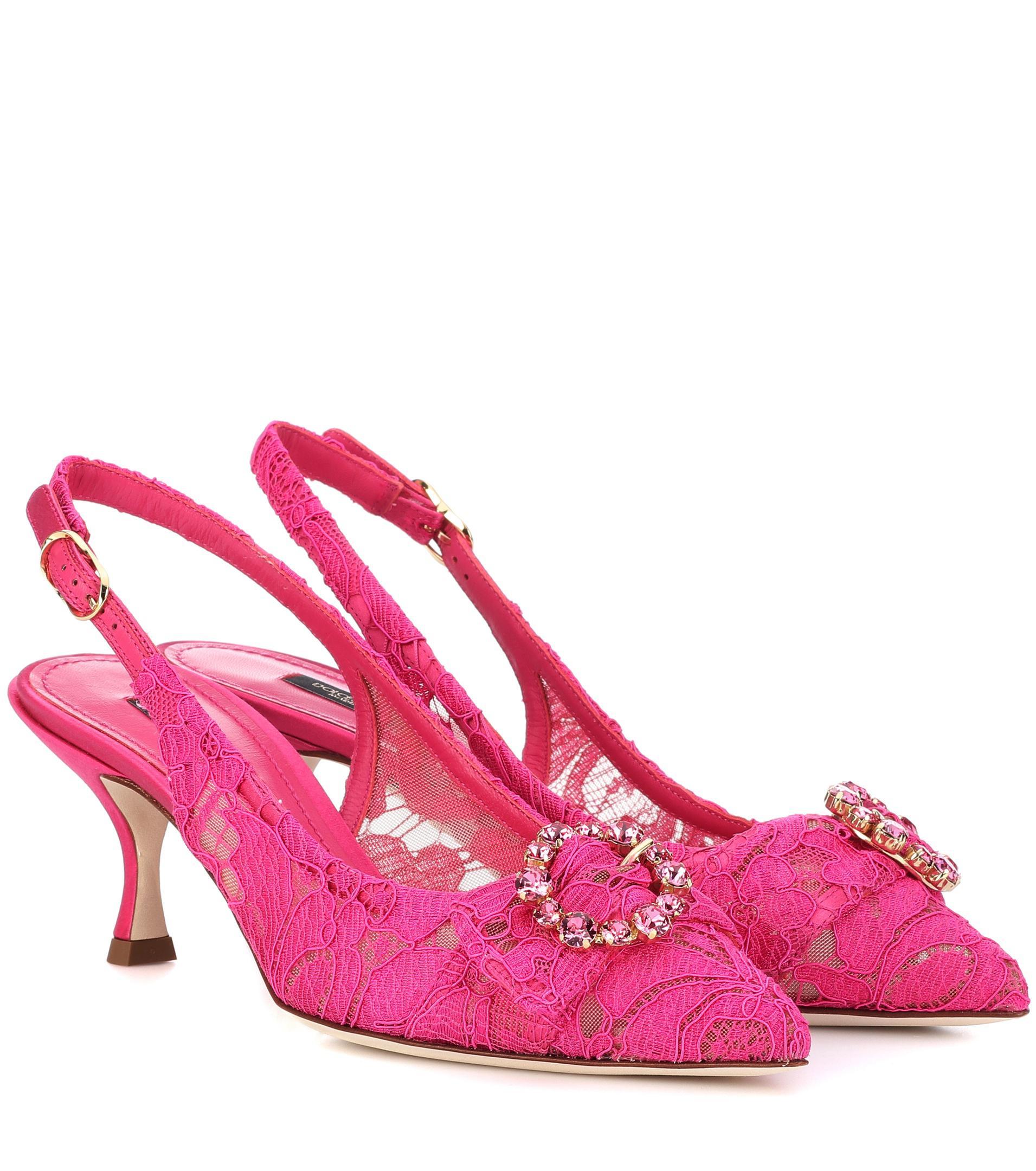 Dolce & Gabbana Lori lace slingback pumps cheap sale best sale mhvjlplZ