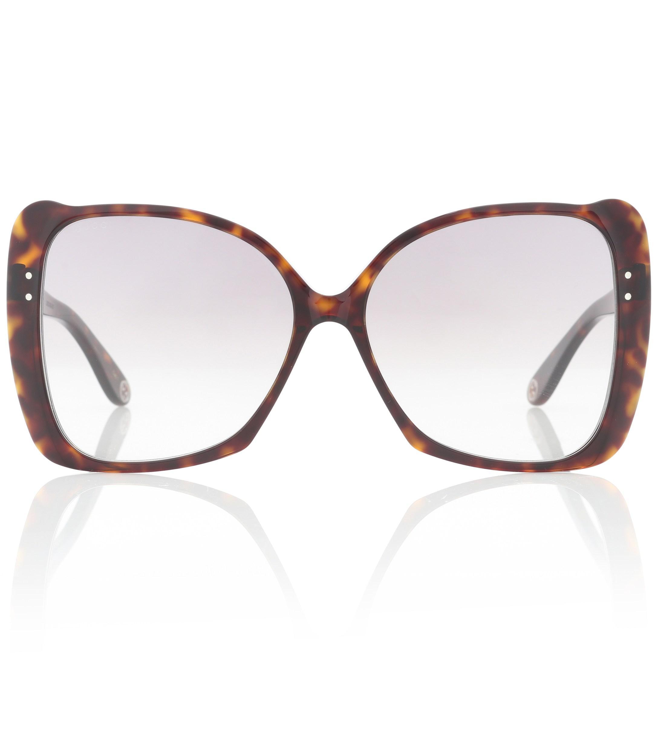 df590171297 Gucci Oversized Square Sunglasses in Brown - Lyst