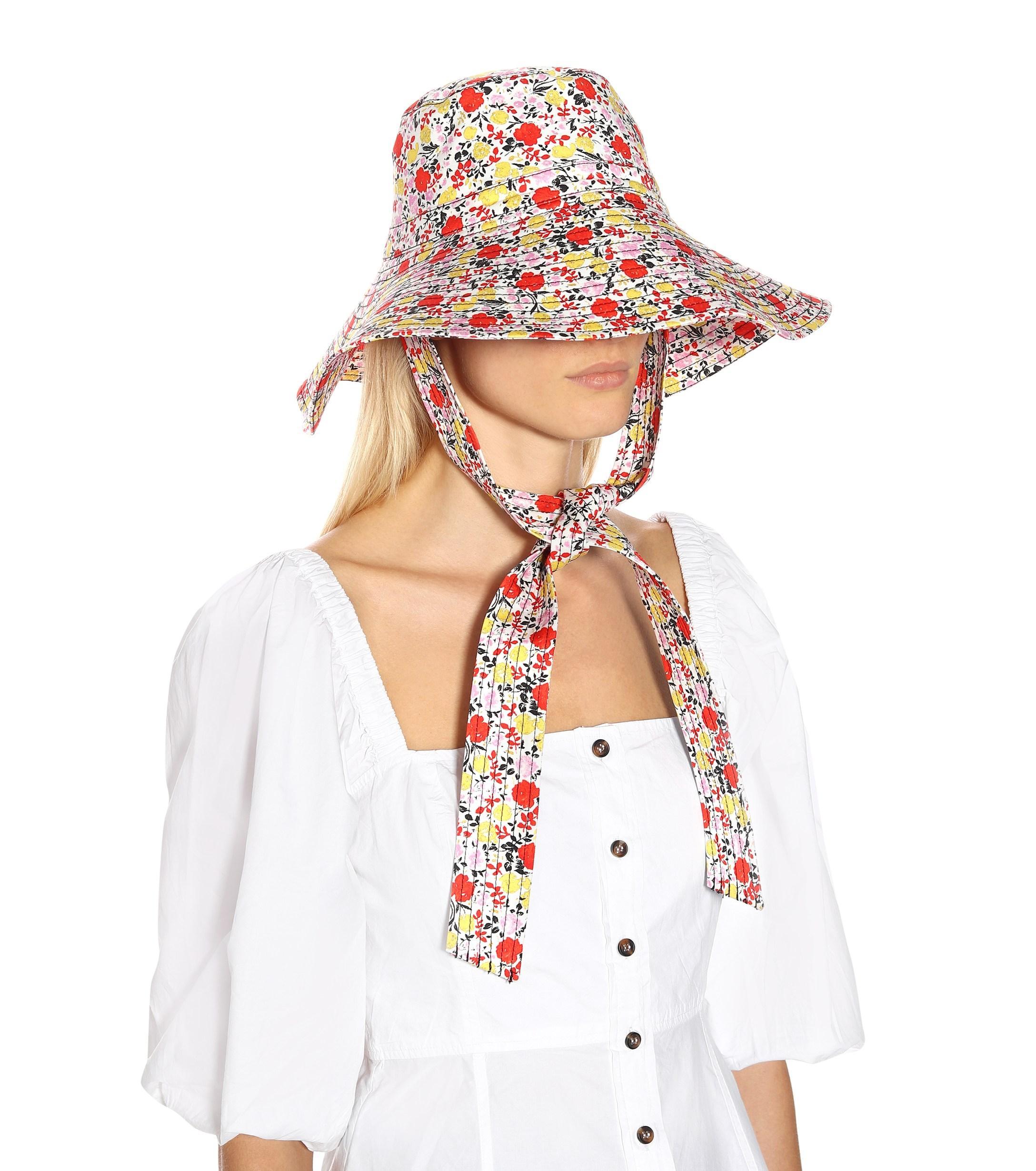 3b109b5c87e Lyst - Ganni Exclusive To Mytheresa – Floral Wide-brim Hat