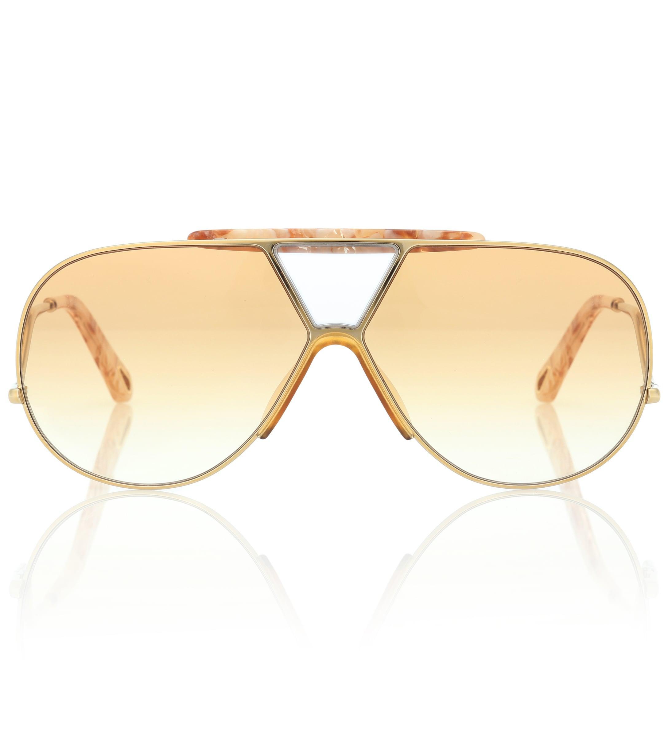 4997c370e9 Chloé - Multicolor Gafas de sol Willis estilo aviador - Lyst. Ver en  pantalla completa
