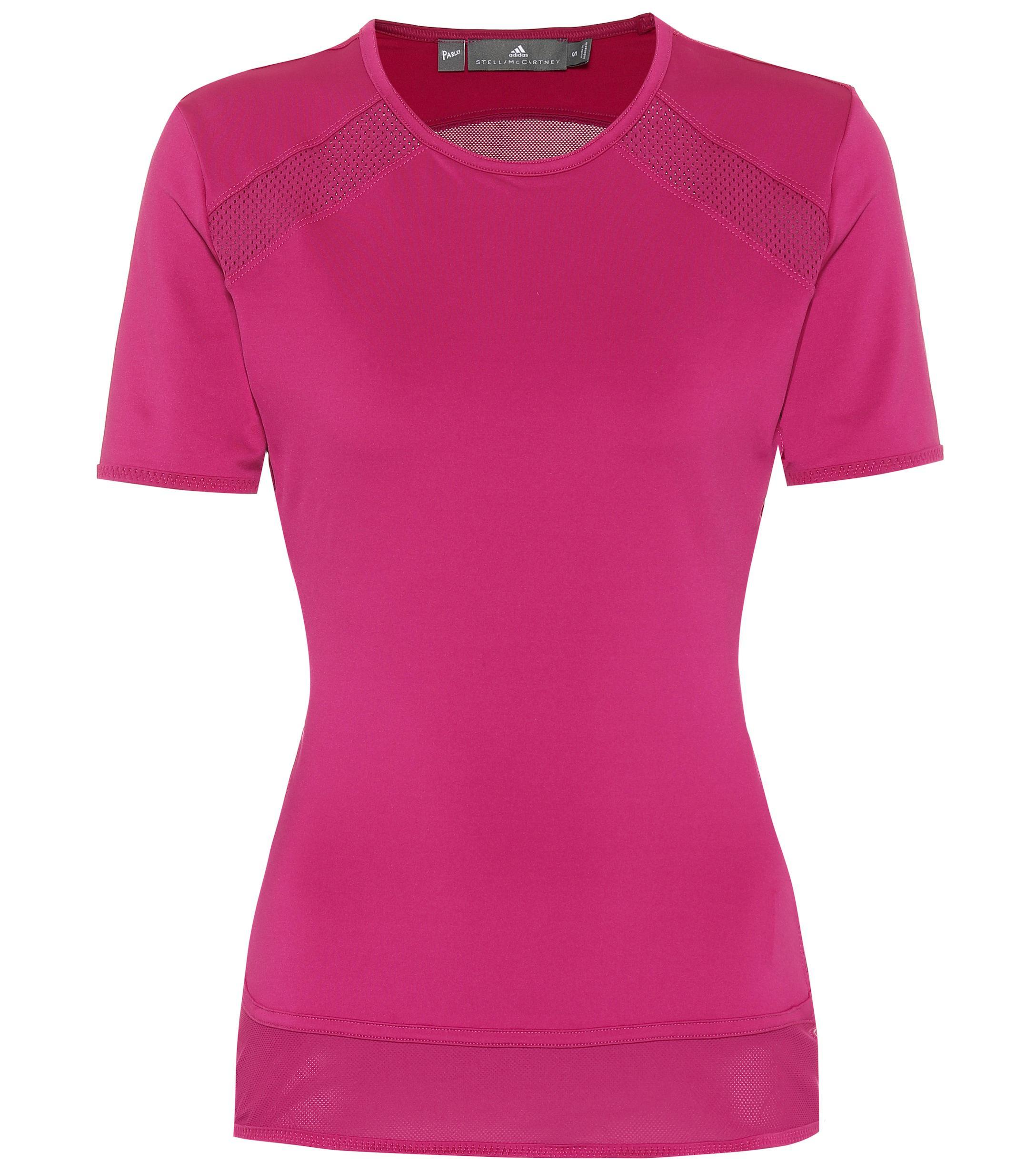 17cf837ee4 Lyst - adidas By Stella McCartney Performance Essentials T-shirt in Pink