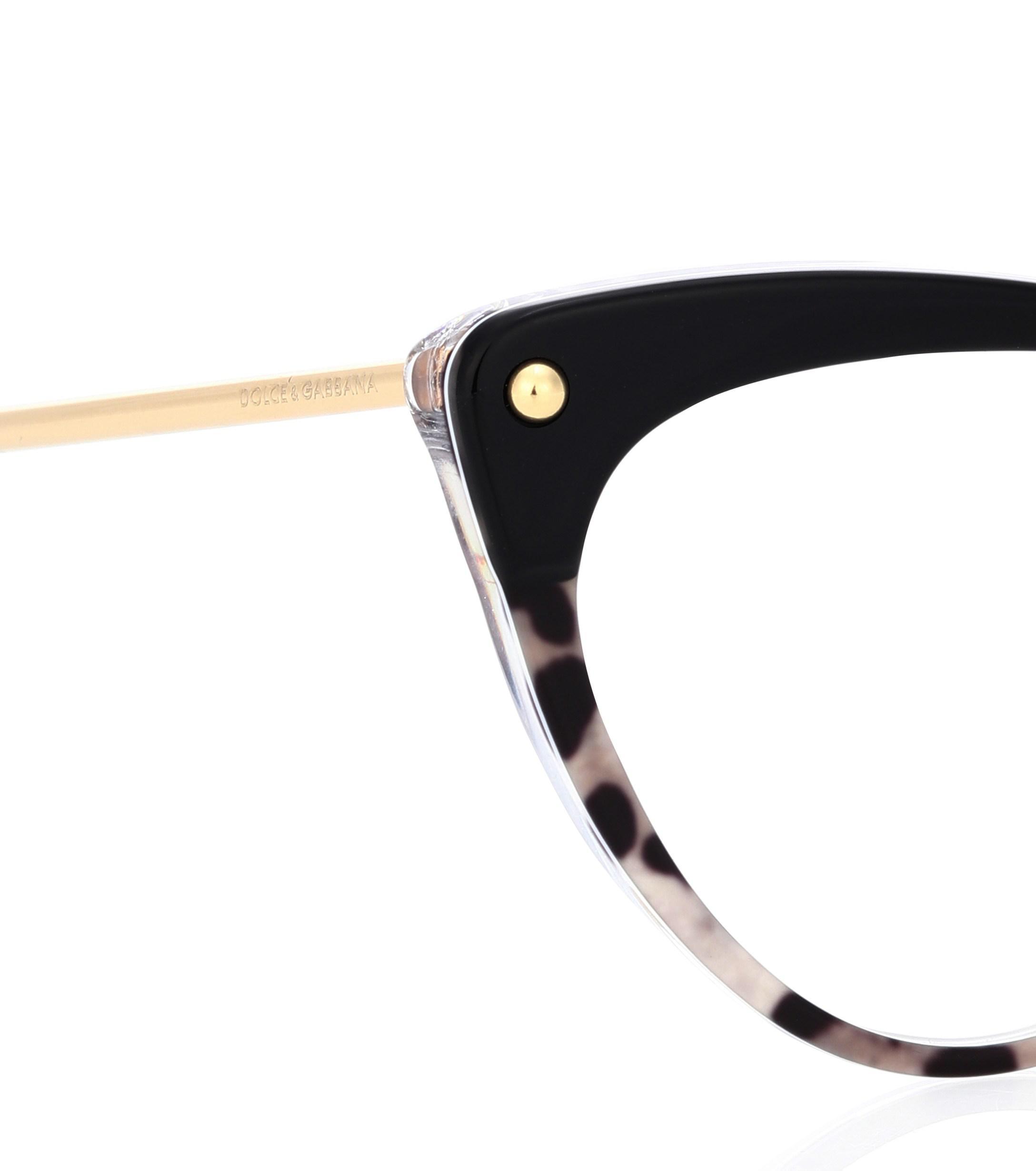 8f360bd8248 Dolce   Gabbana Cat-eye Glasses in Black - Lyst