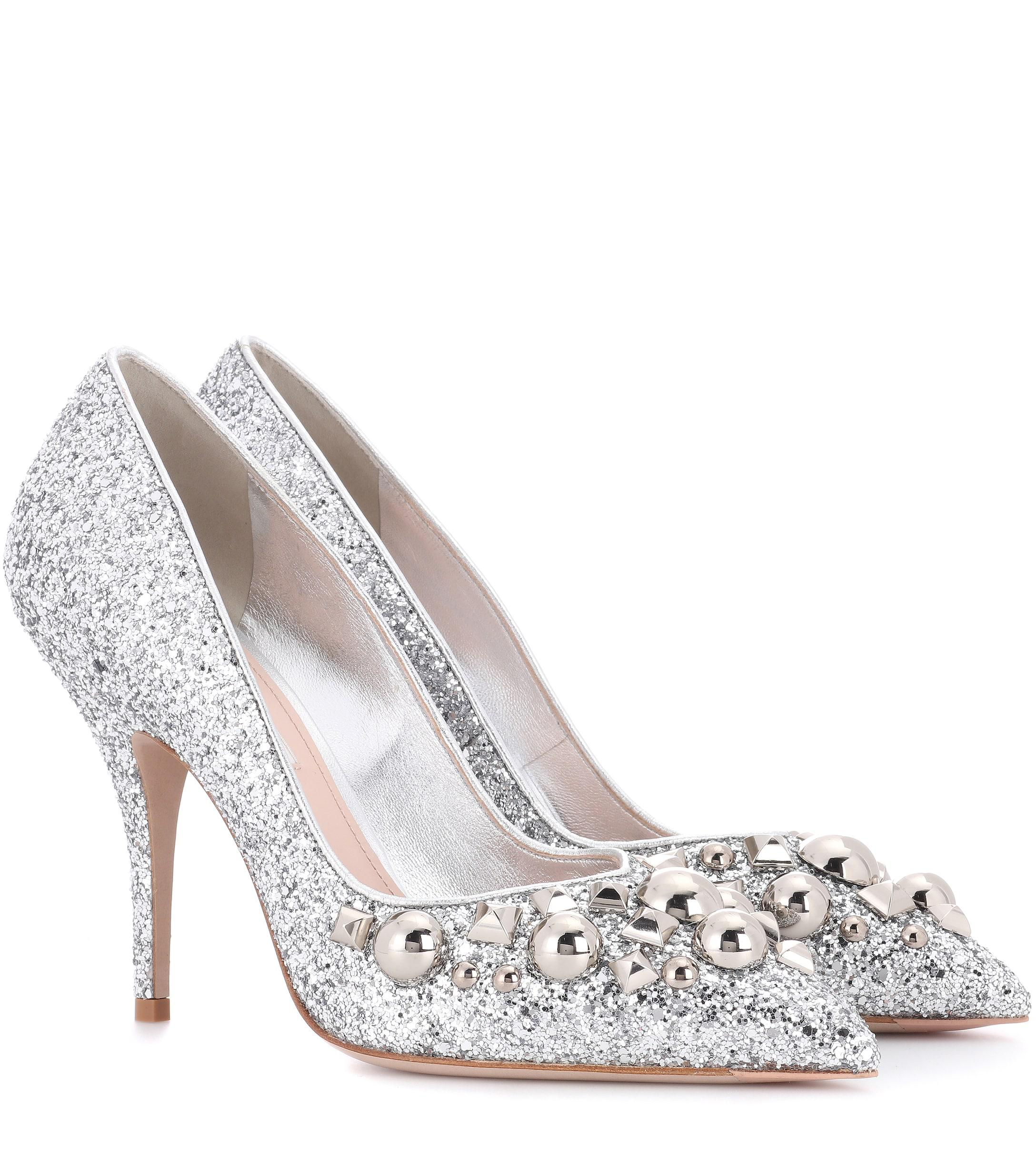 8f7a2dcf01b0 Miu Miu. Women s Metallic Studded Glitter Court Shoes. £525 From Mytheresa. Free  shipping ...