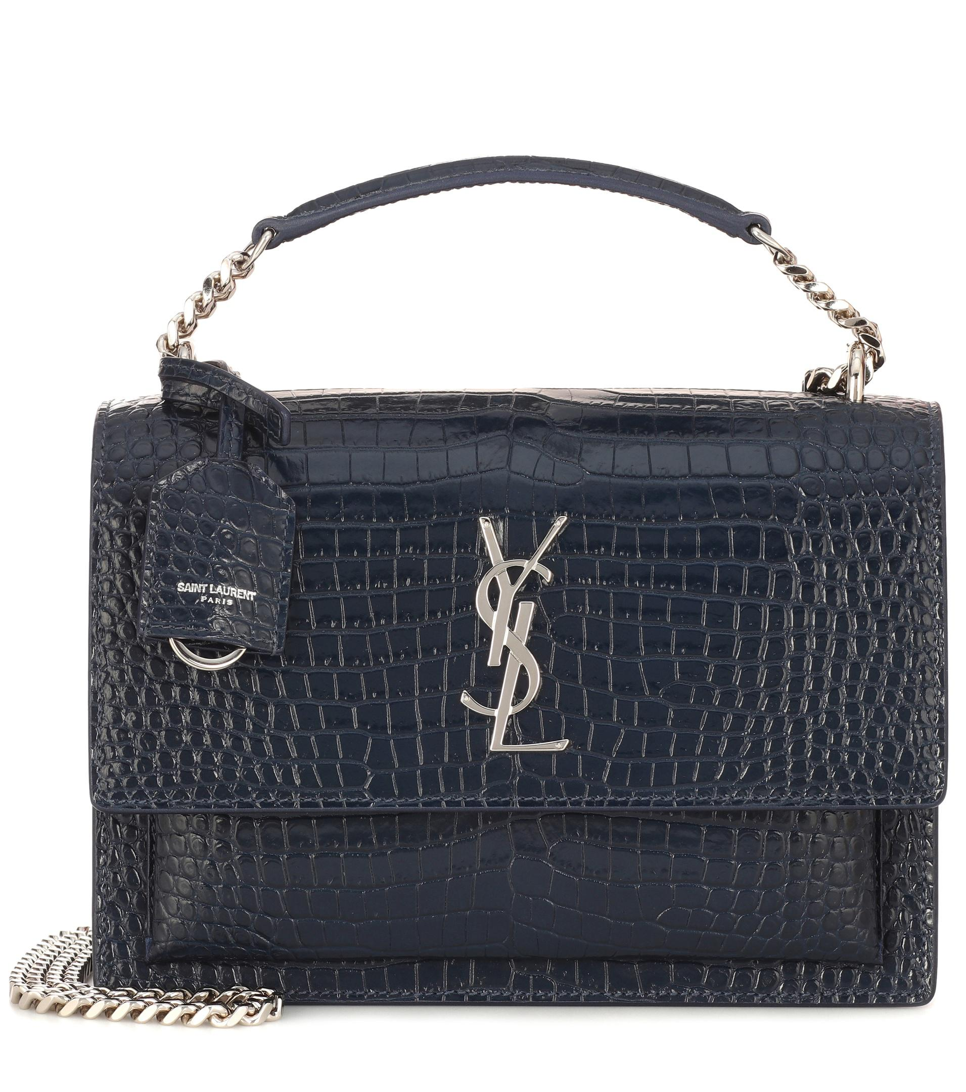 0e3636f562c6 Saint Laurent. Women s Blue Sunset Monogram Medium Shoulder Bag.  2