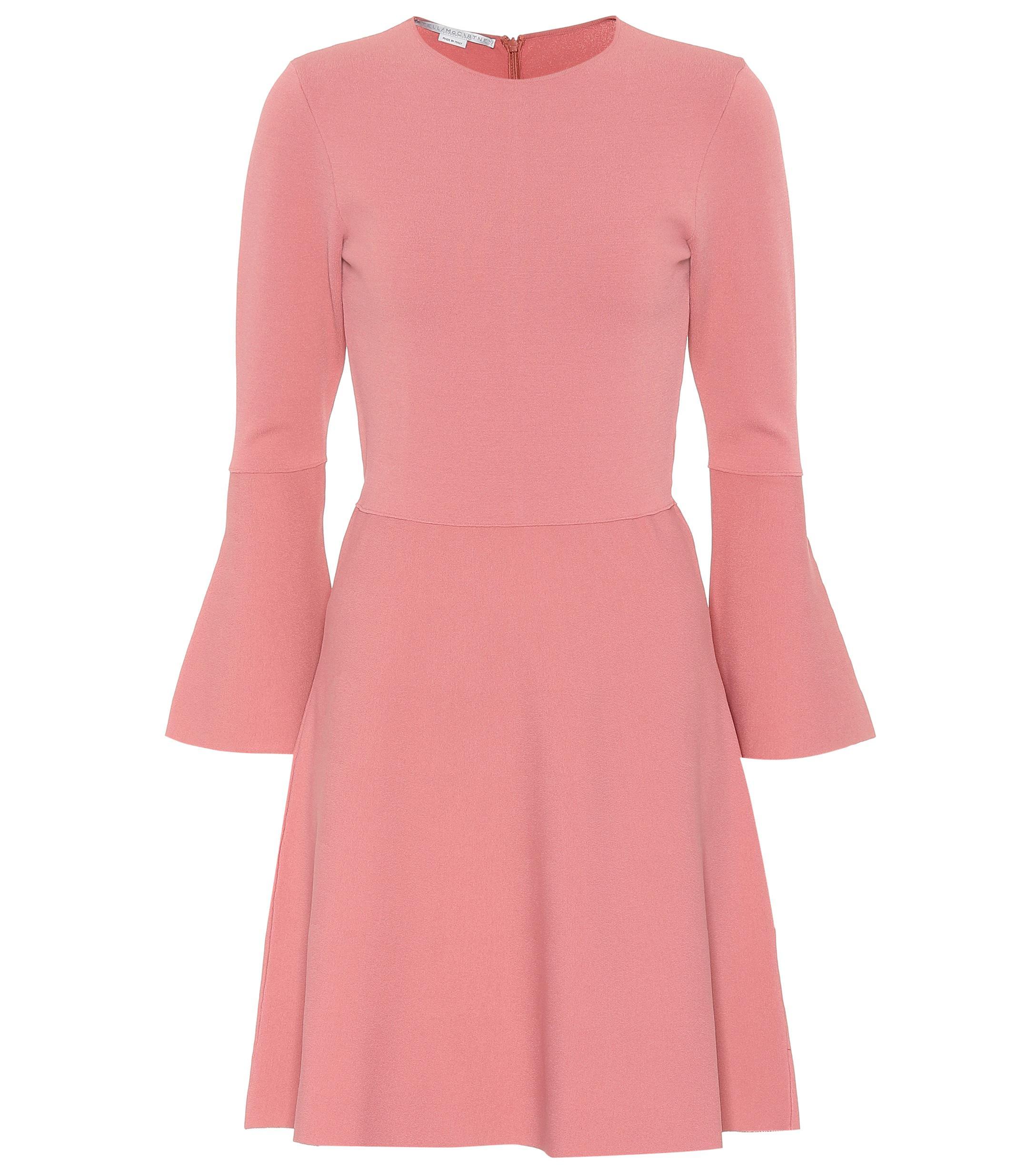 Lyst - Mini-robe en crêpe Stella McCartney en coloris Rose 41bcf016d2c