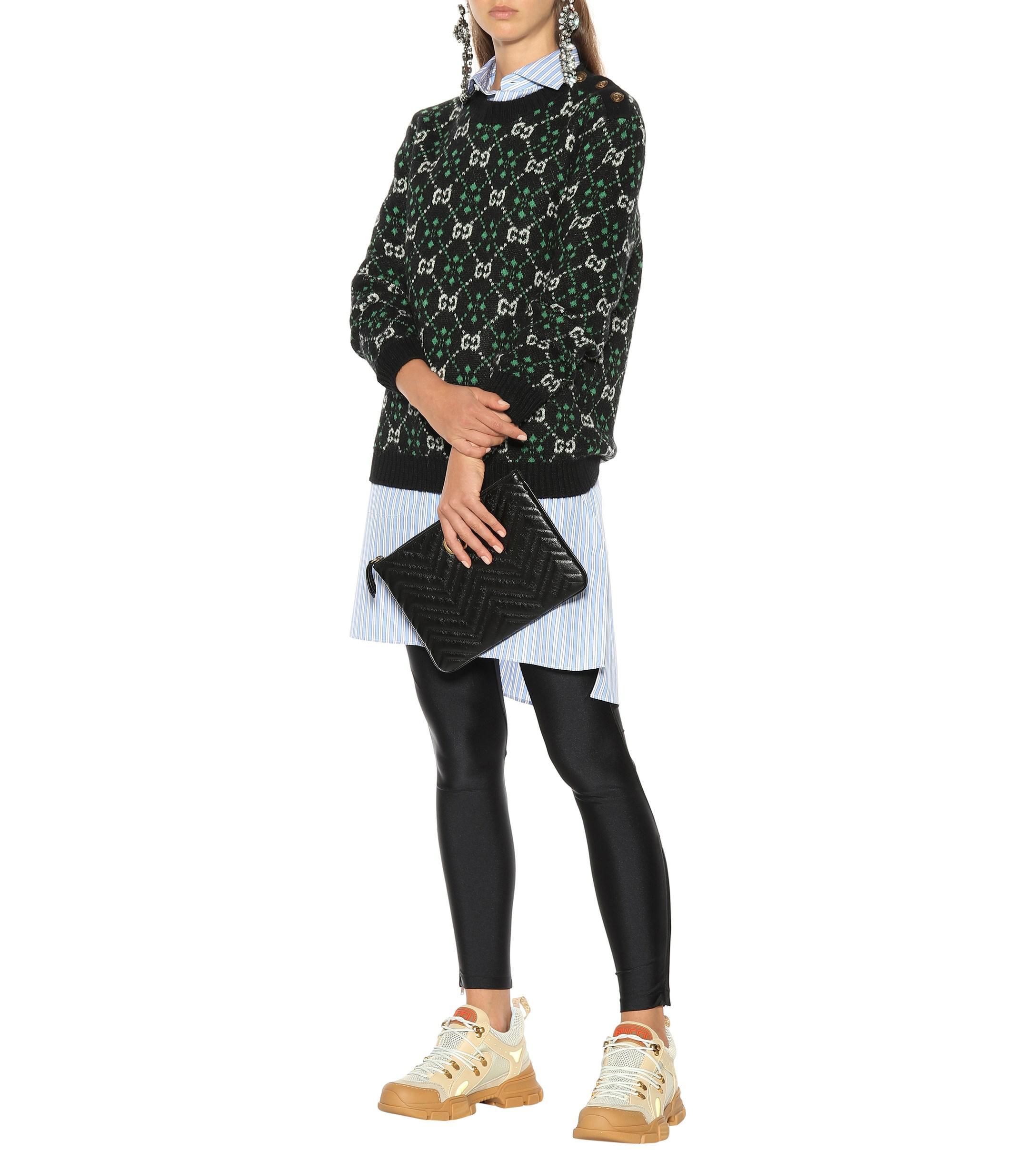 Lyst - Pull en alpaga et laine Gucci en coloris Noir f73880e131f