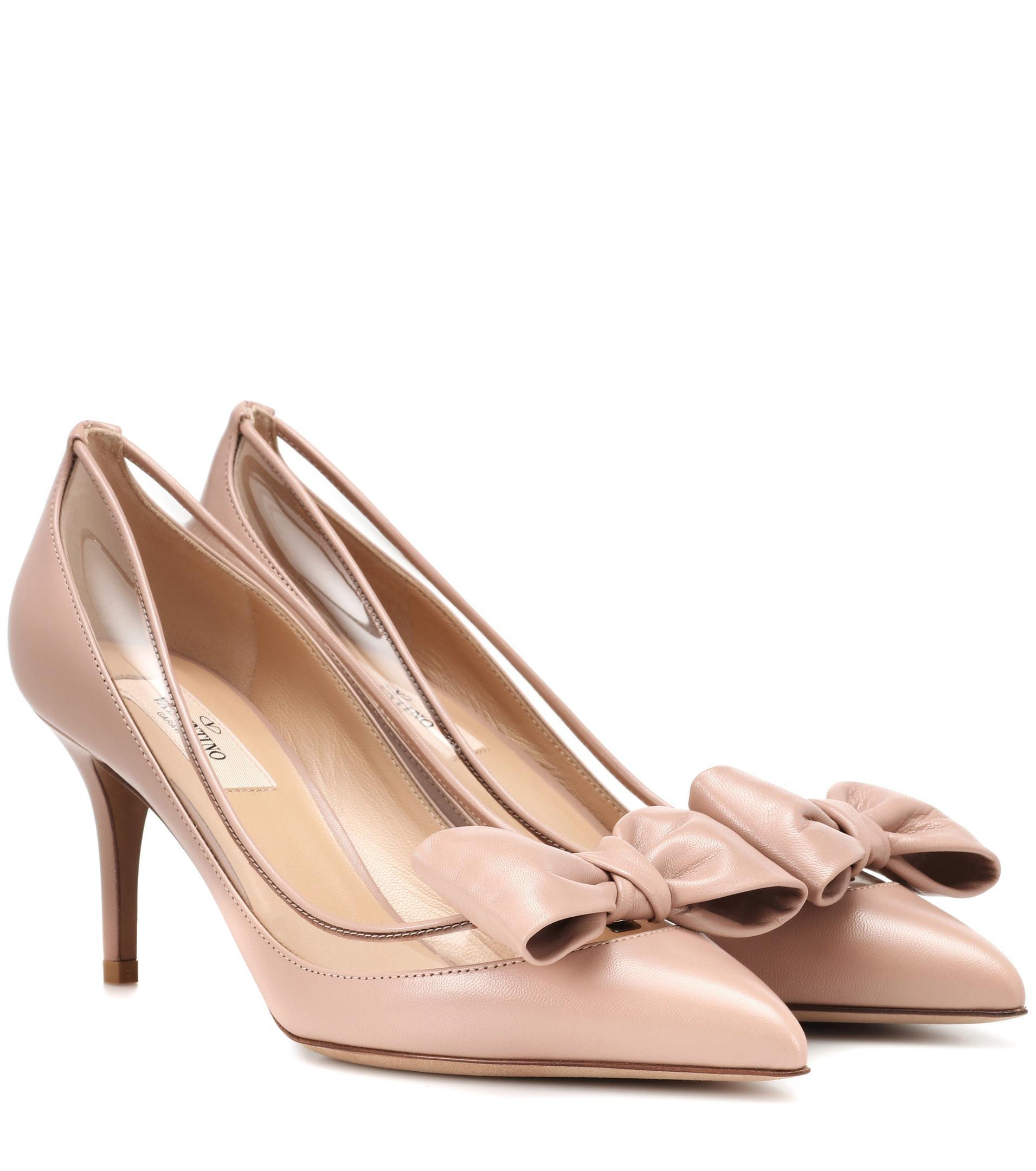 3c1d9431f0aa9b Lyst - - Escarpins en cuir Dollybow Valentino en coloris Rose