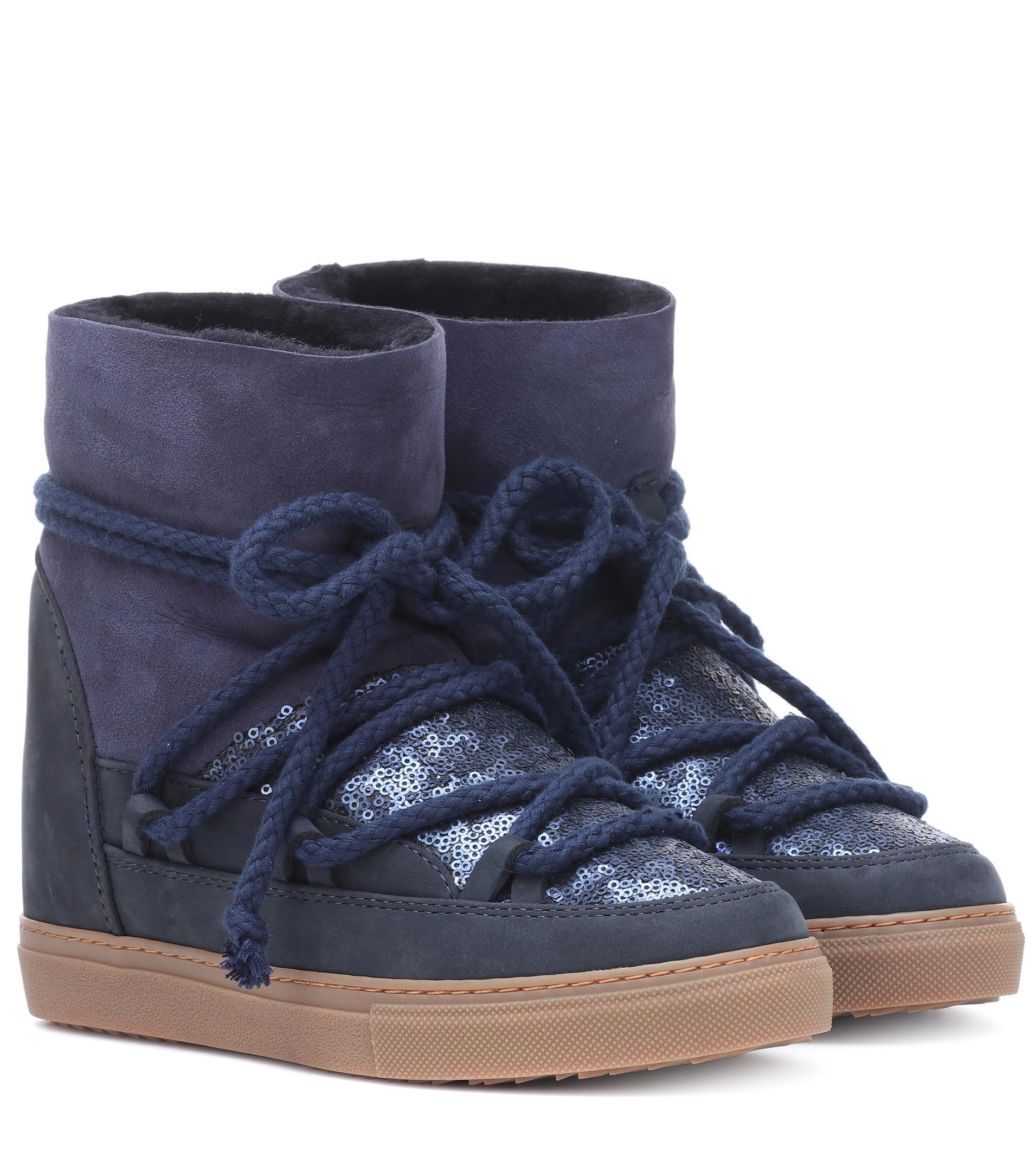 Bleu Lyst Daim Bottines Coloris Sneaker En Inuikii Sequin 8F4w8aqx