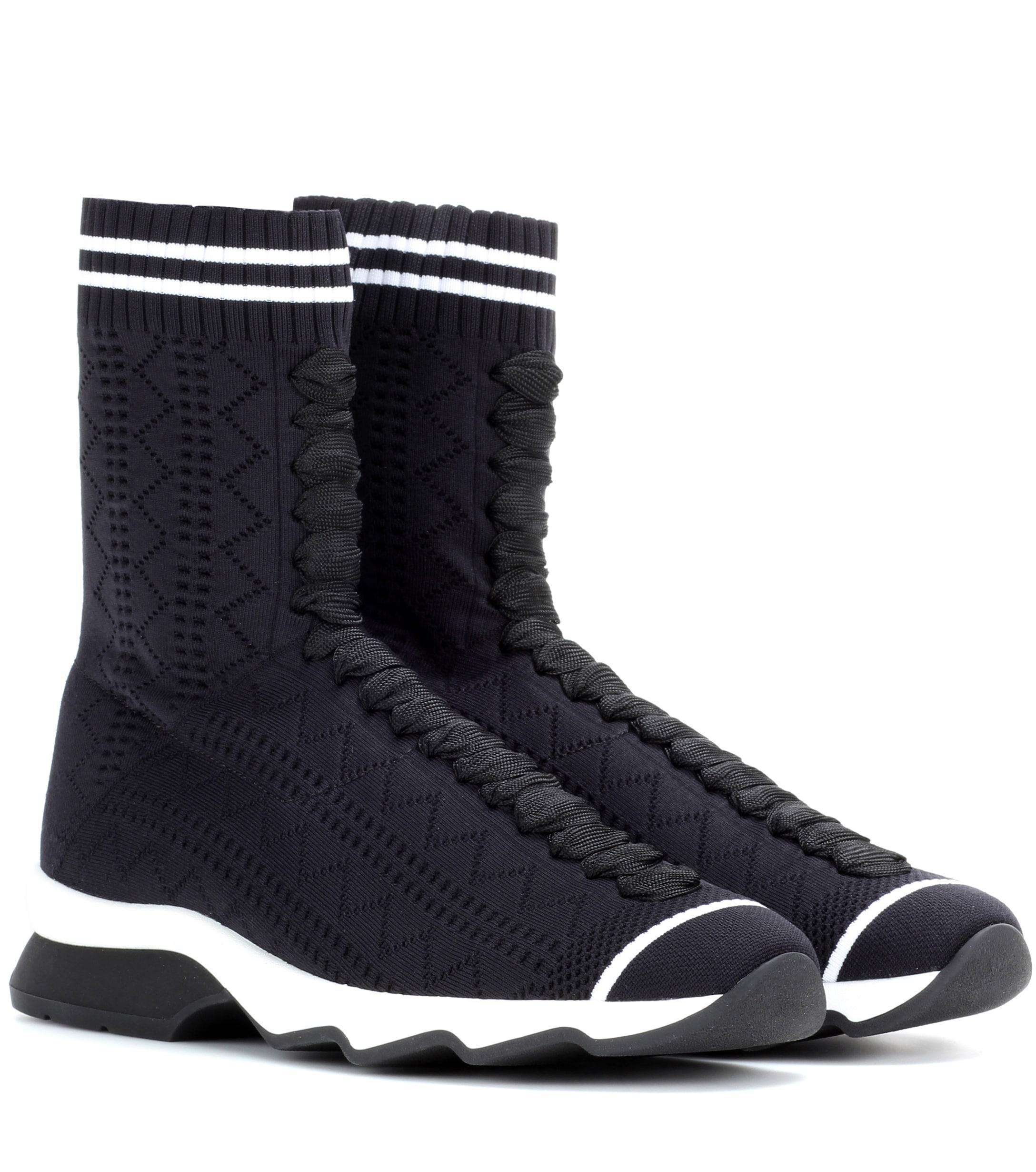 544ff3b689 Lyst - Fendi High-top Sneakers in Black