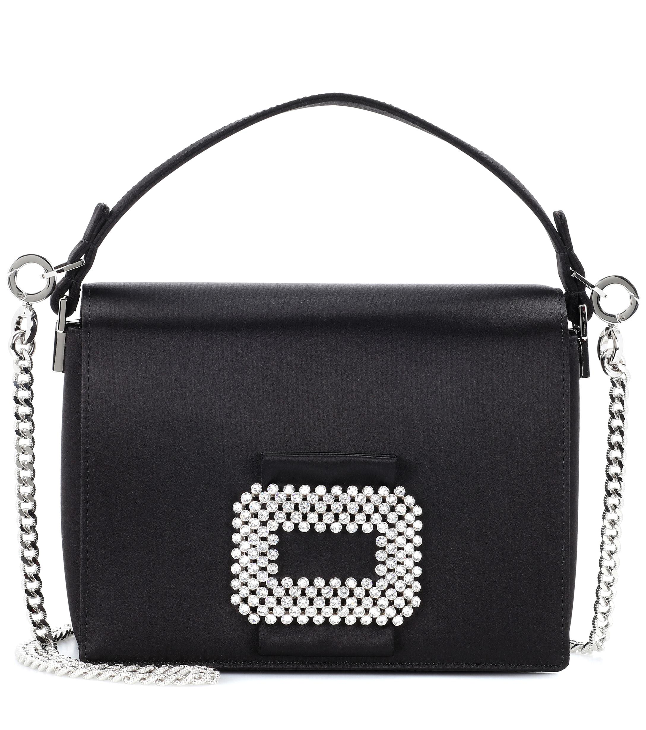 15939a2e4e1b Lyst - Roger Vivier Madame Viv Satin Shoulder Bag in Black - Save 24%