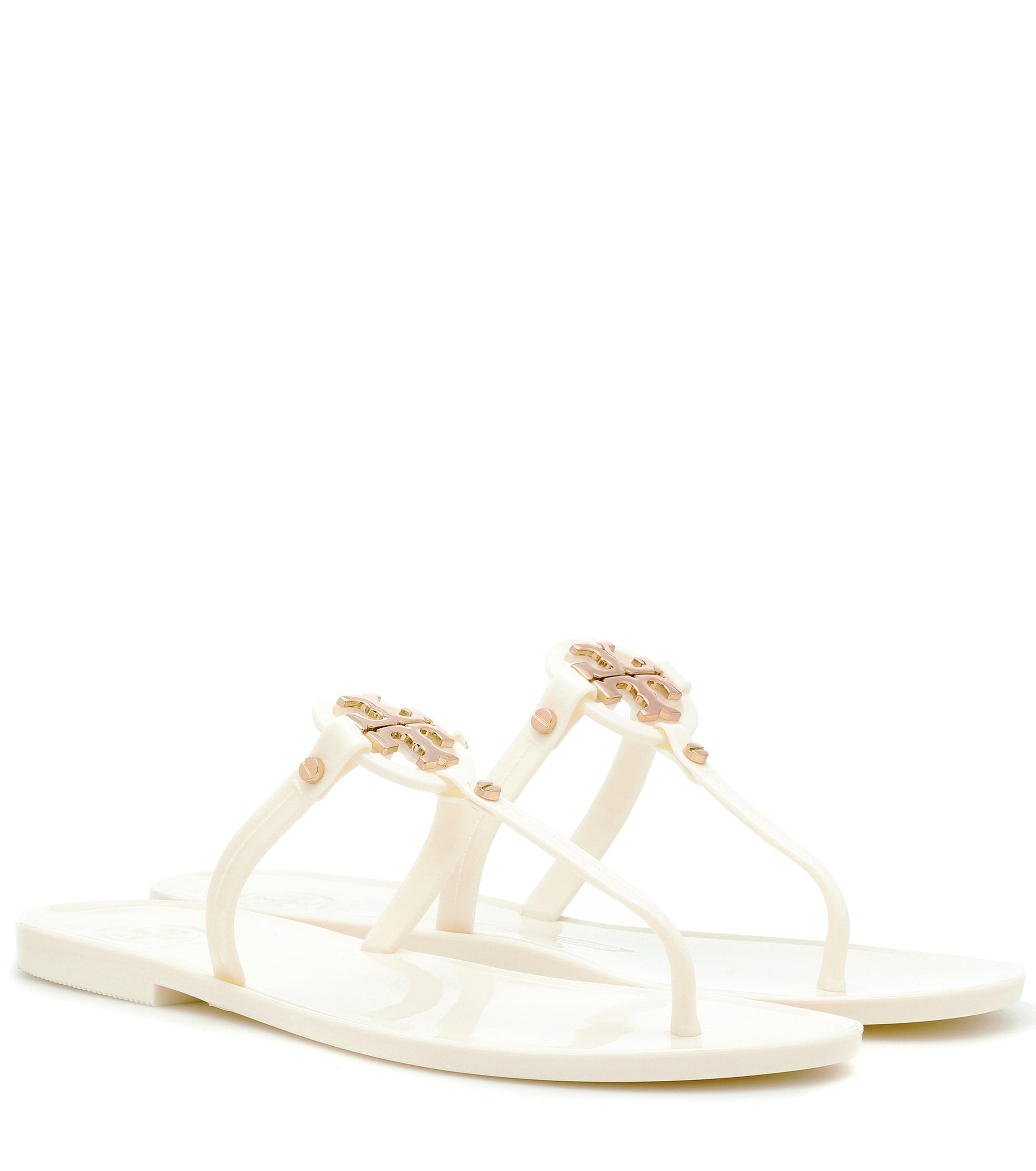 082bcb97331401 Lyst - Tory Burch Mini Miller Jelly Sandals in White