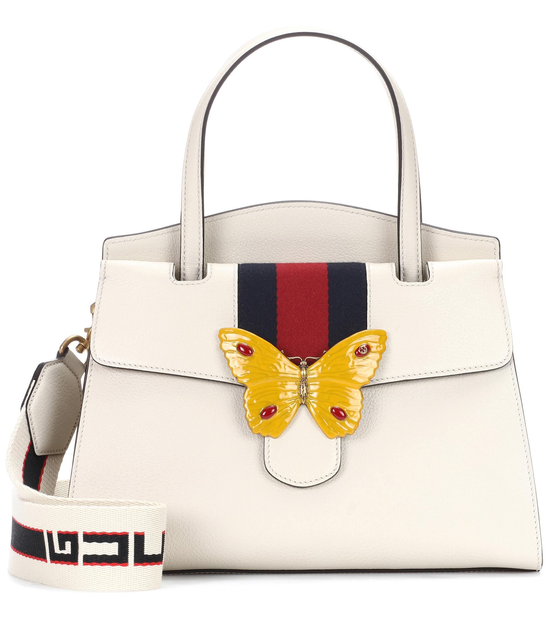 7ee576153822 Gucci Totem Medium Leather Tote in White - Lyst