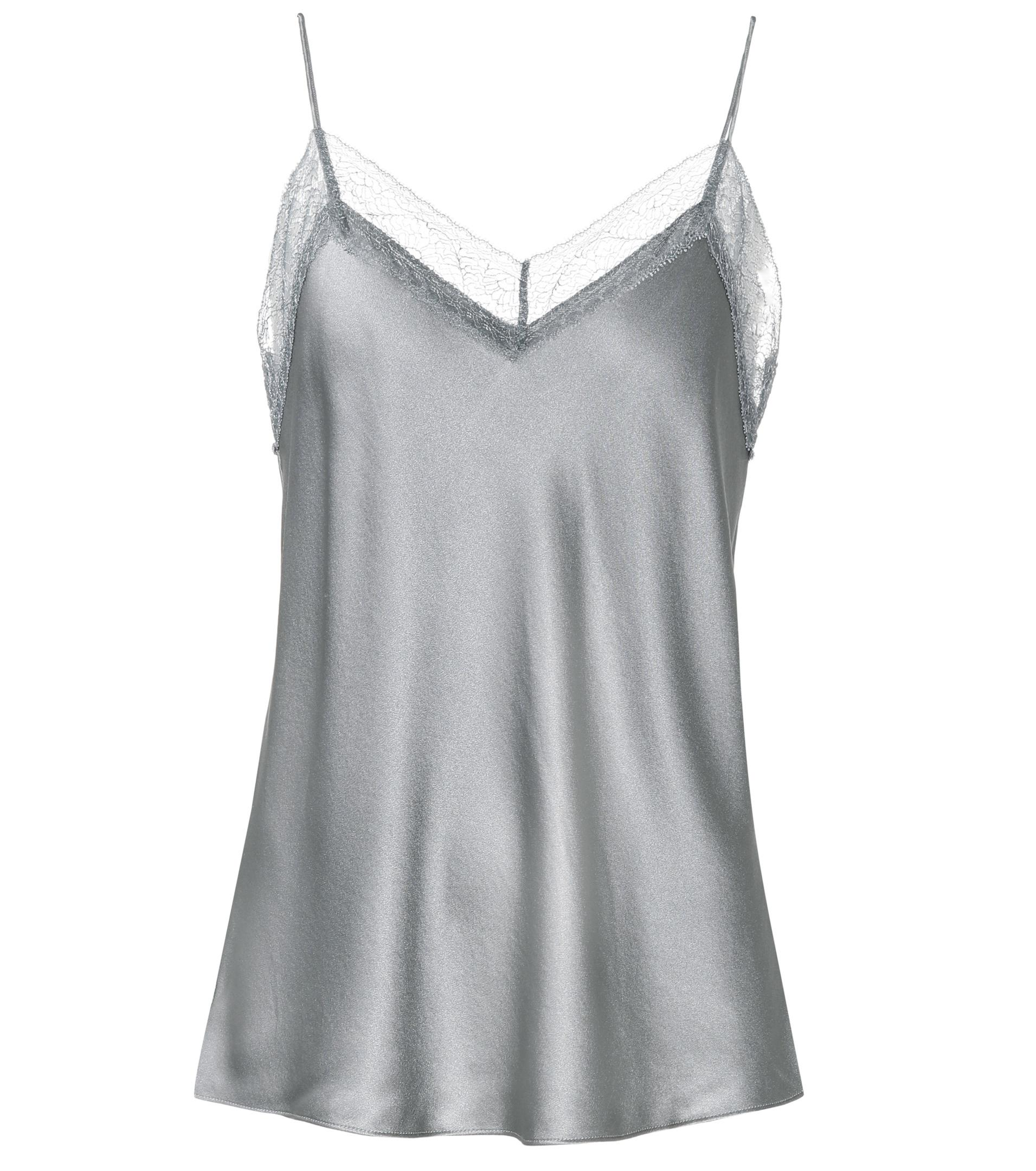 Lace-trimmed Silk-satin Camisole - Sand Vince Clearance Official kkVGIDy3Y