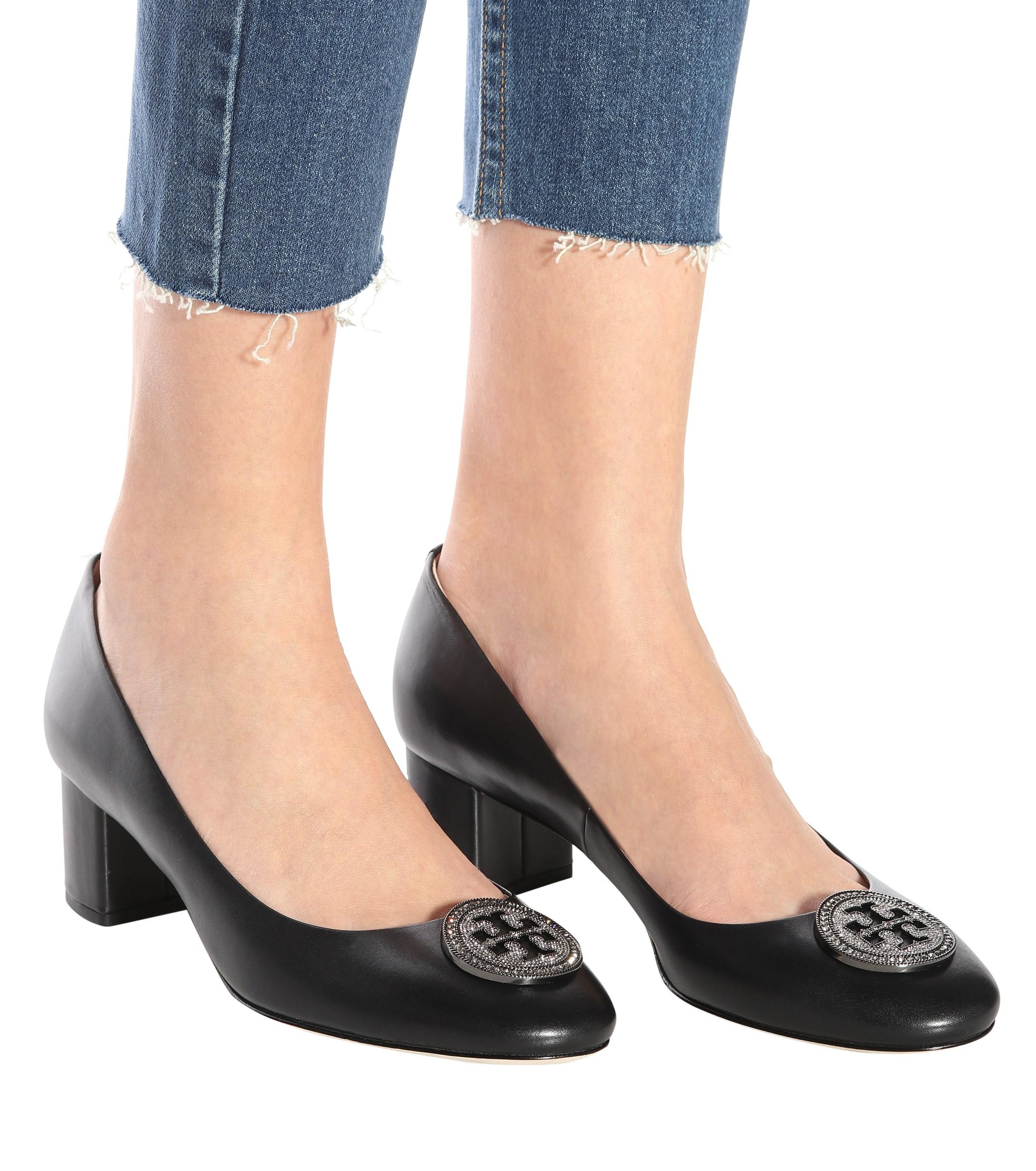 c2bc69812dc Tory Burch - Black Liana Leather Pumps - Lyst. View fullscreen