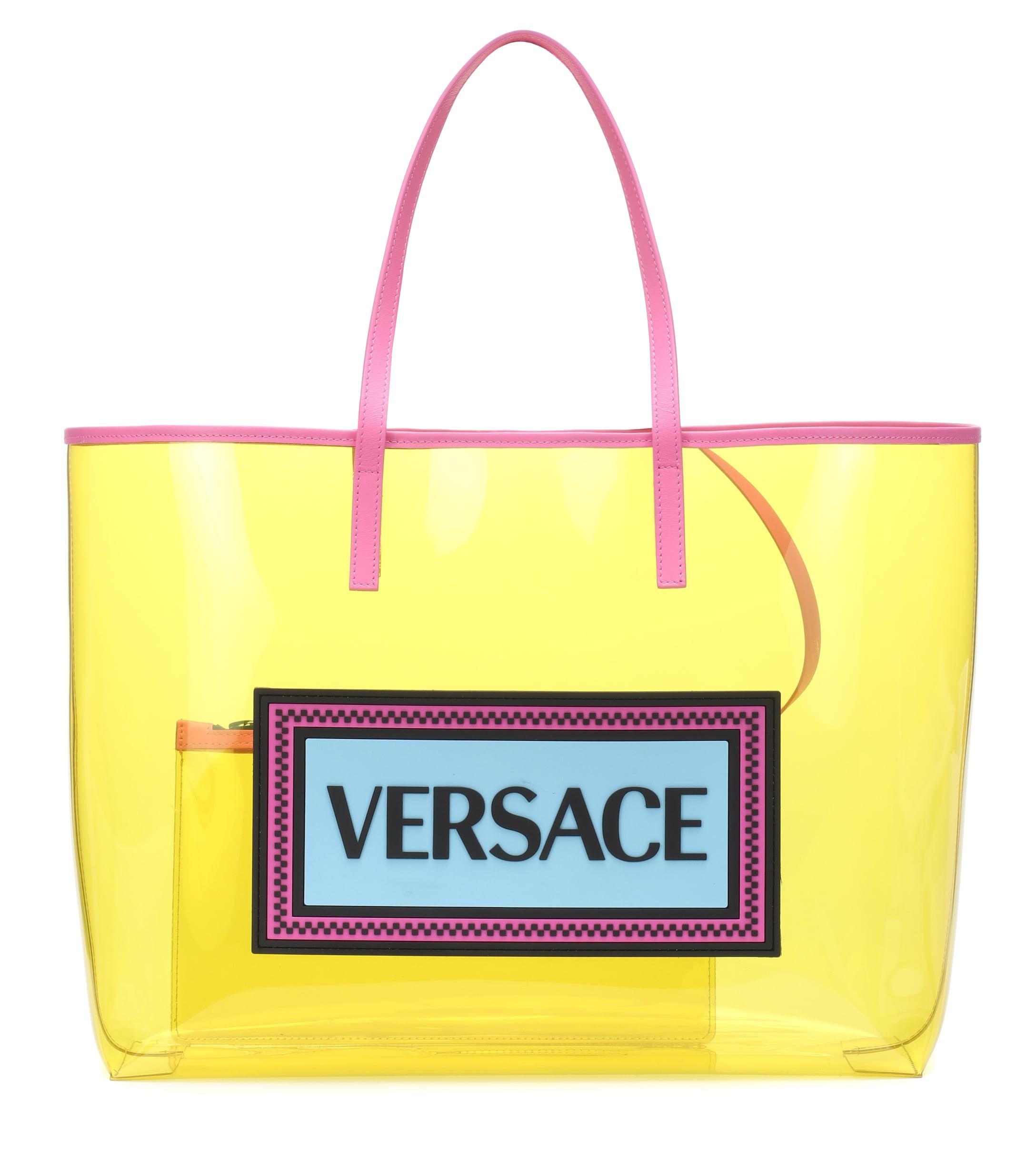 4748b0bda7 Versace - Yellow Pvc Tote - Lyst. View fullscreen