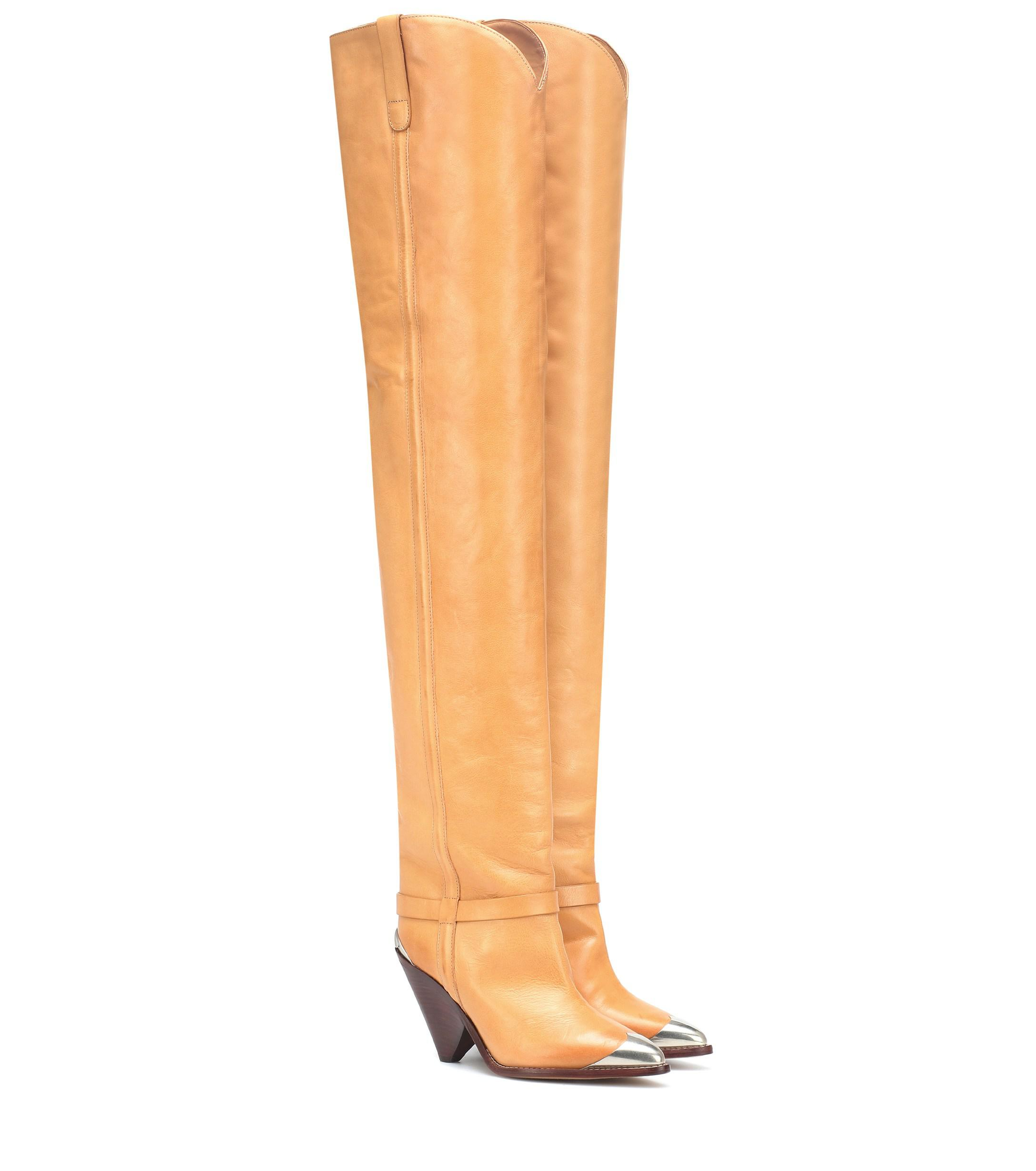 720b22b66d1 Lyst - Isabel Marant Lafsten Over-the-knee Boots in Natural
