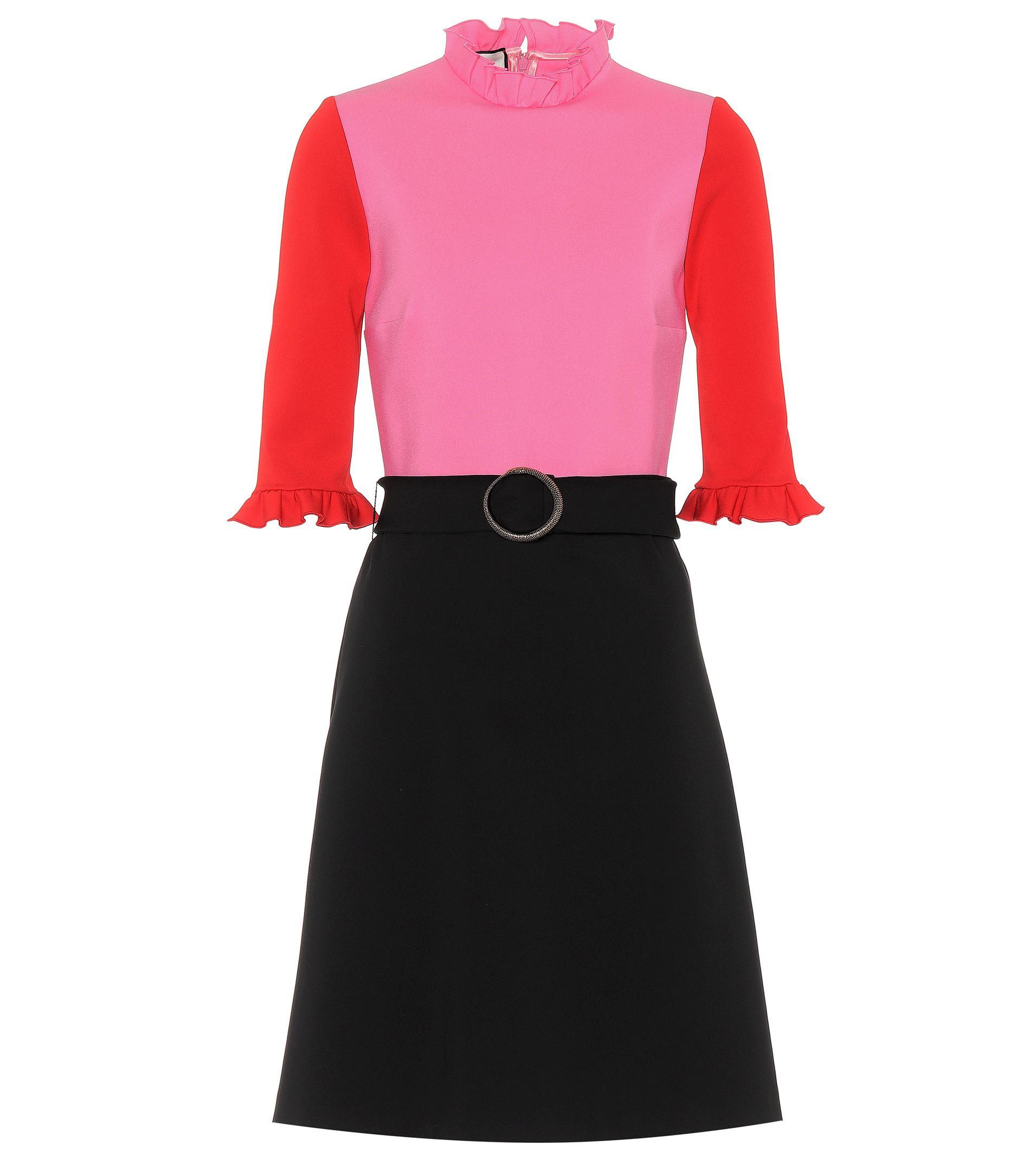 Lyst - Robe à volants Gucci en coloris Rose fbeaf93efc6