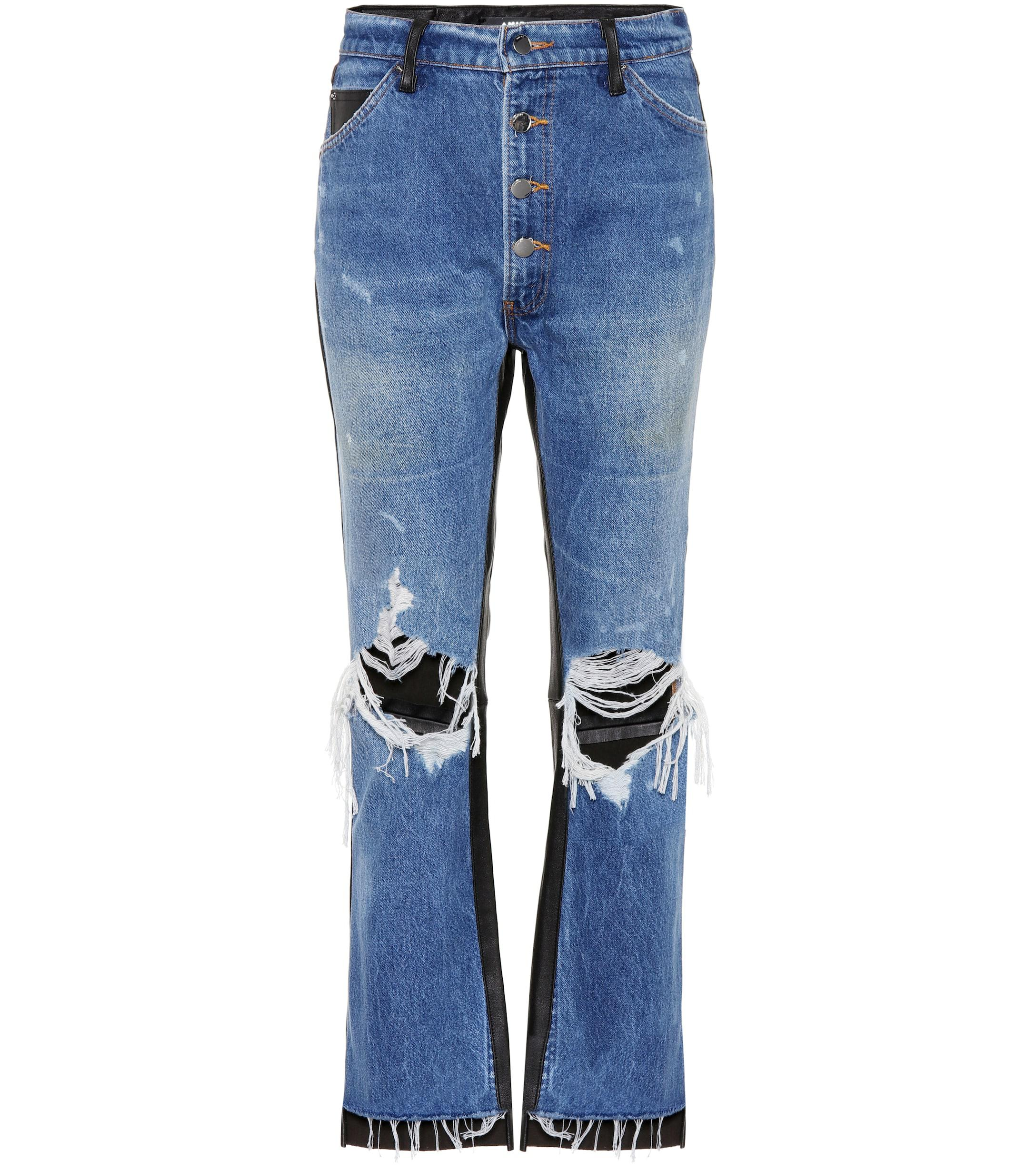73fc3ca34842d amiri-medium-indigoblack-Leather-trimmed-Cropped-Jeans.jpeg
