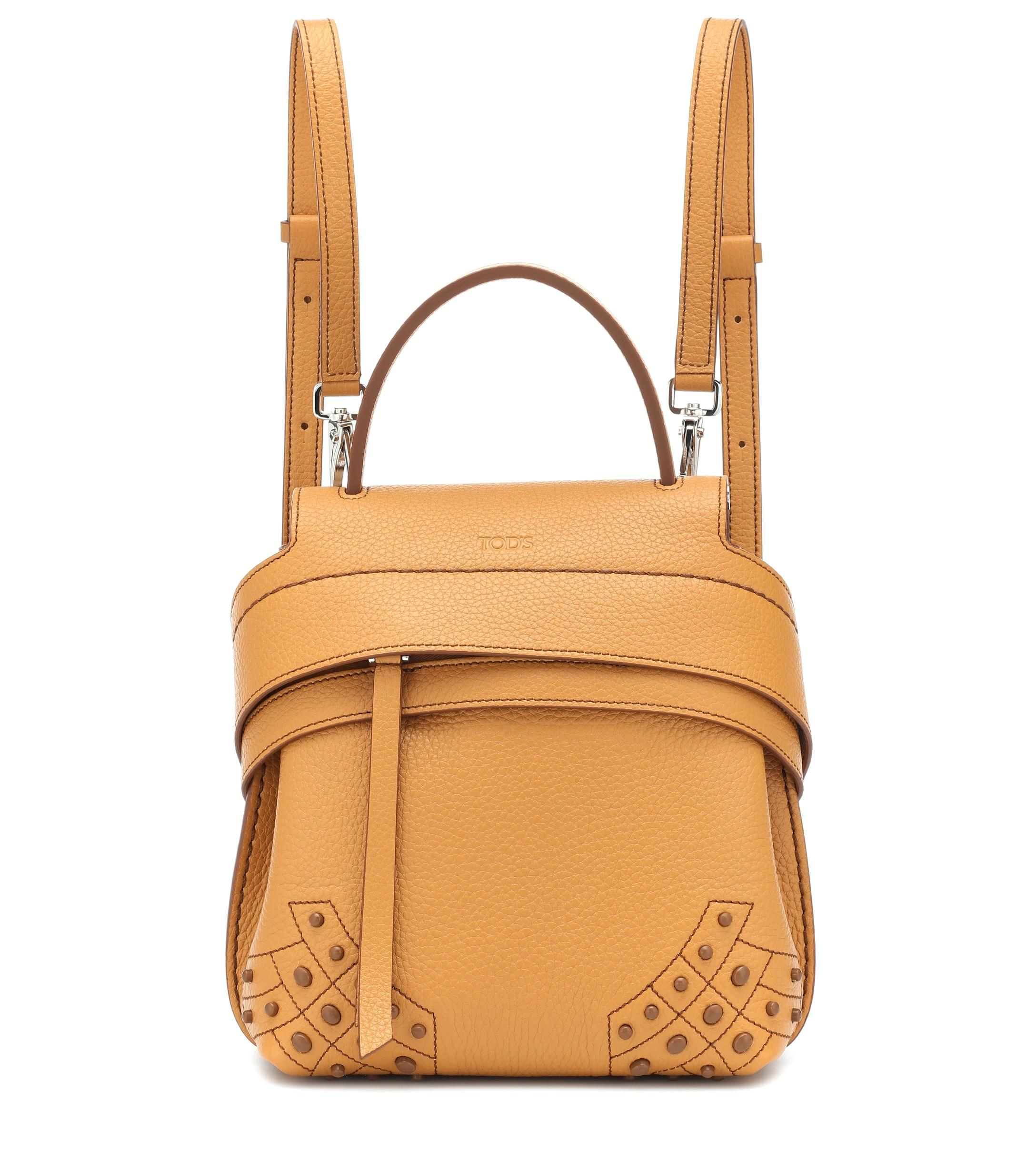 f73c290dd856 Lyst - Tod s Wave Mini Leather Backpack in Yellow